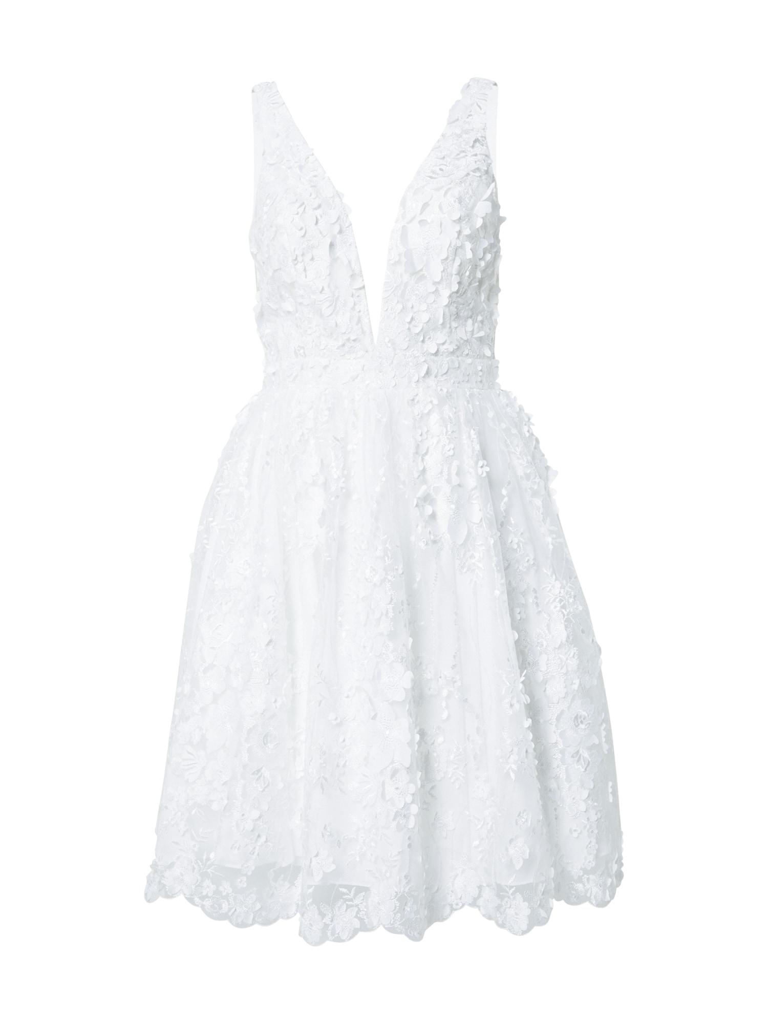 mascara Kokteilinė suknelė kremo