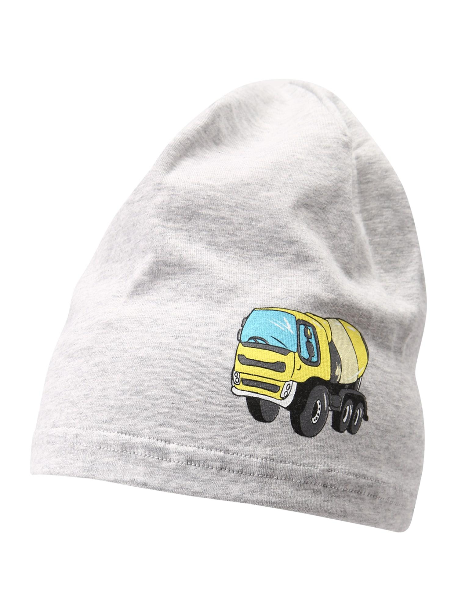 DÖLL Megzta kepurė šviesiai pilka / geltona / turkio spalva / juoda