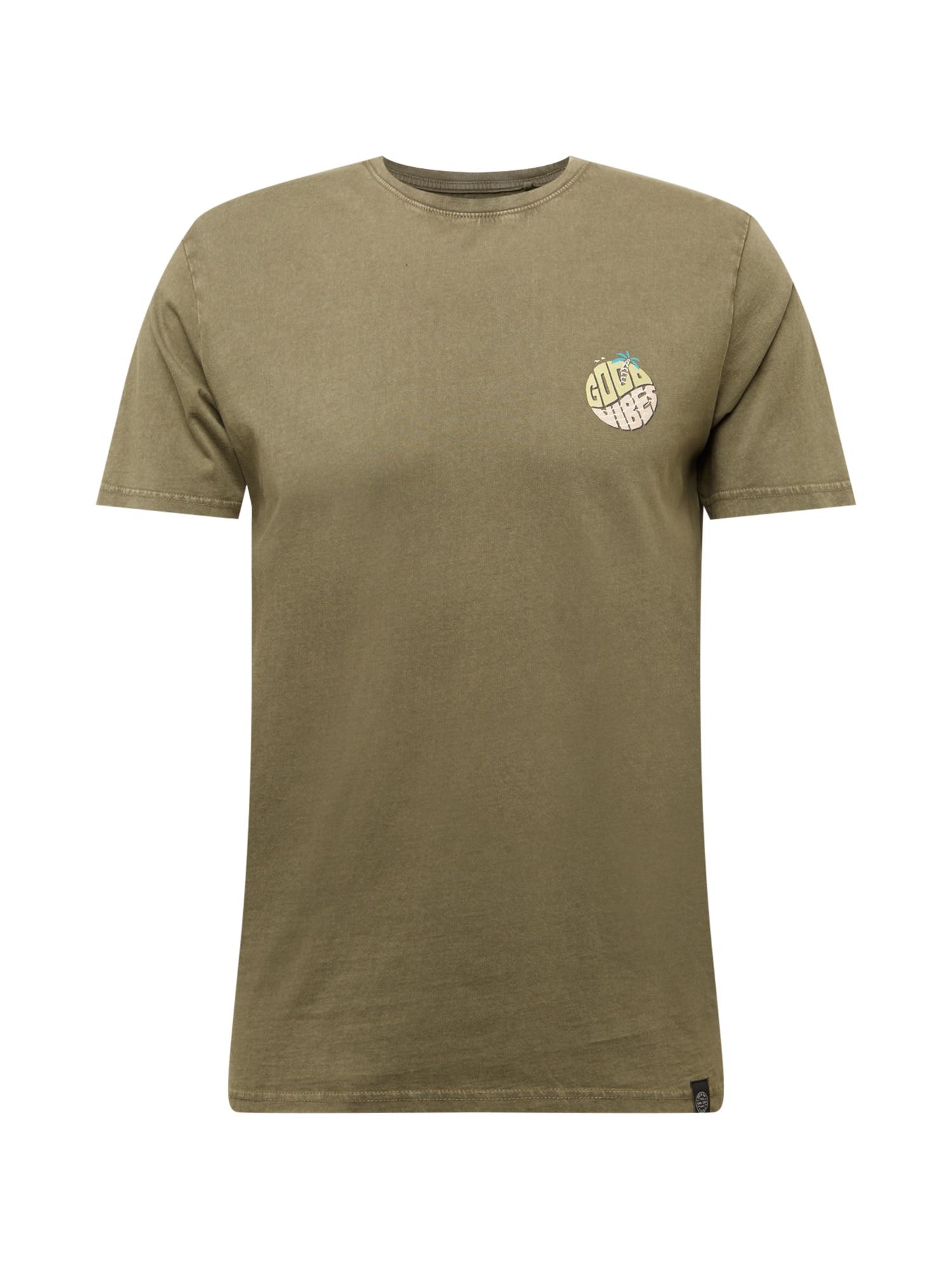 SHINE ORIGINAL Marškinėliai rusvai žalia / mišrios spalvos