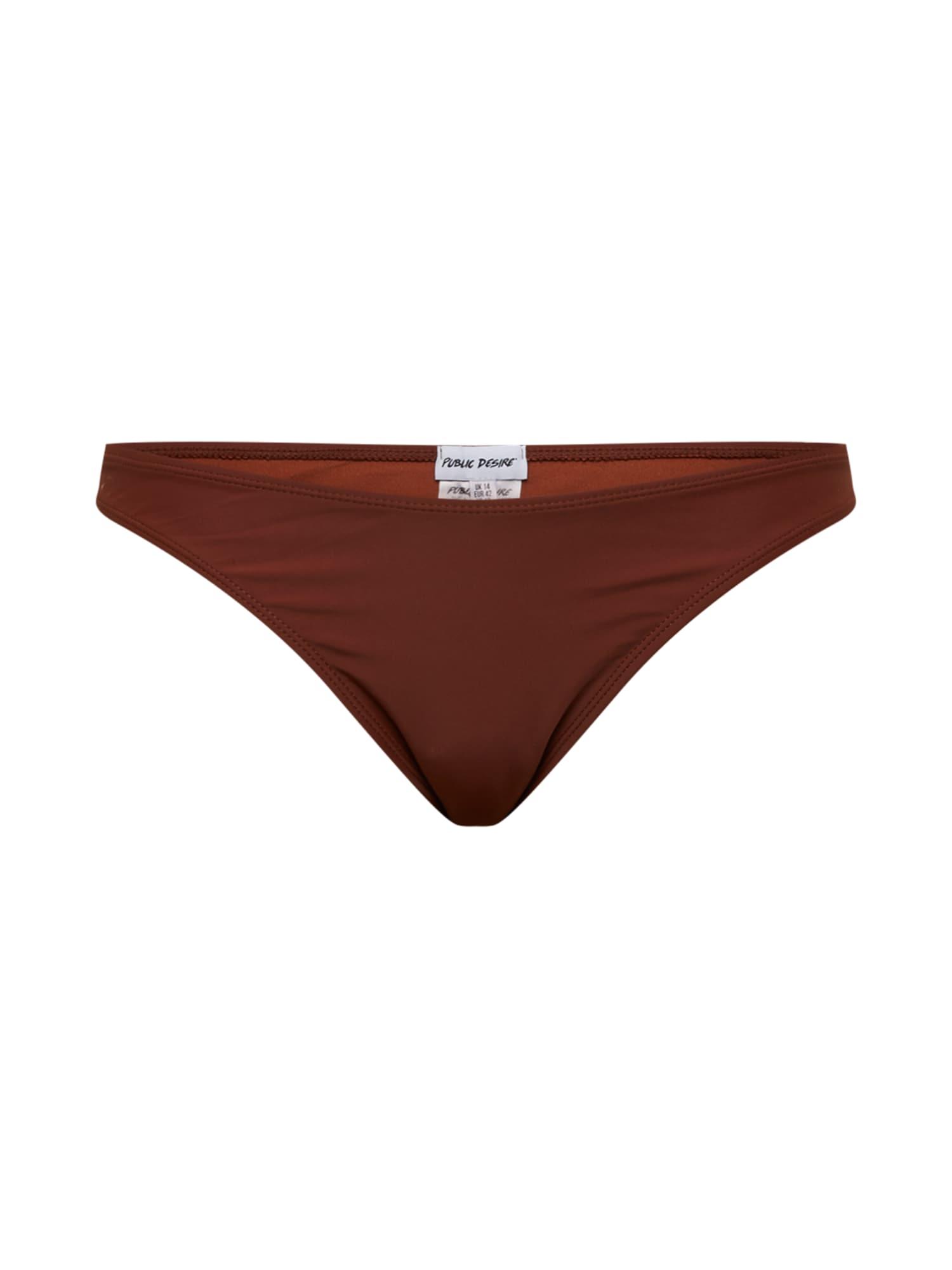 Public Desire Curve Bikinio kelnaitės rusvai rausva