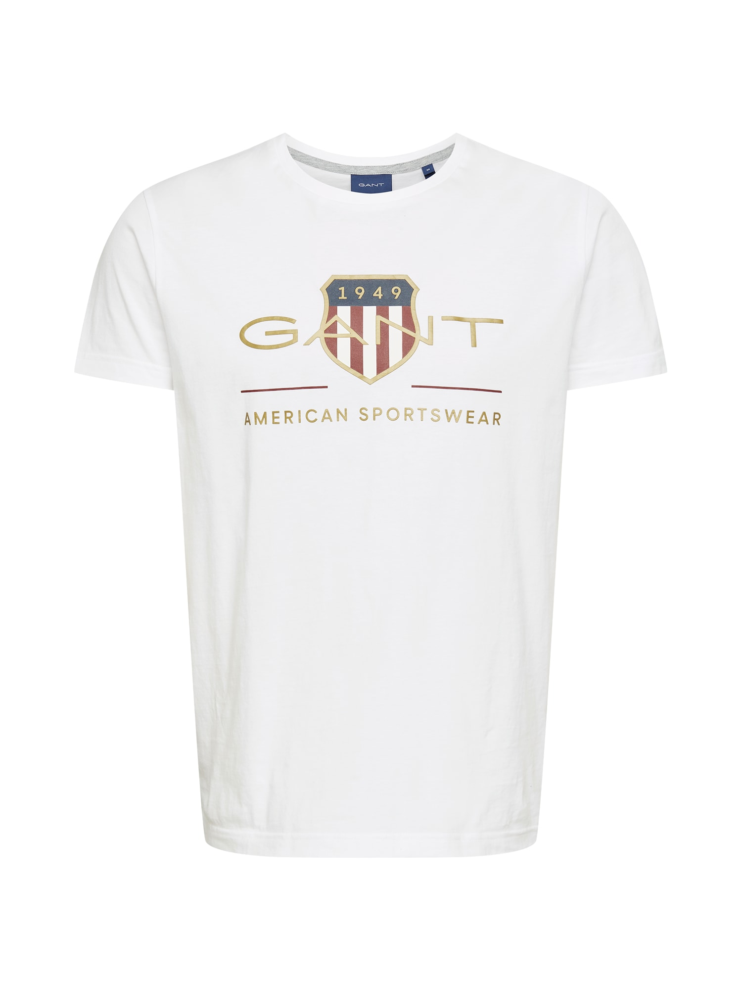 GANT Marškinėliai balta / auksas / tamsiai raudona / mėlyna
