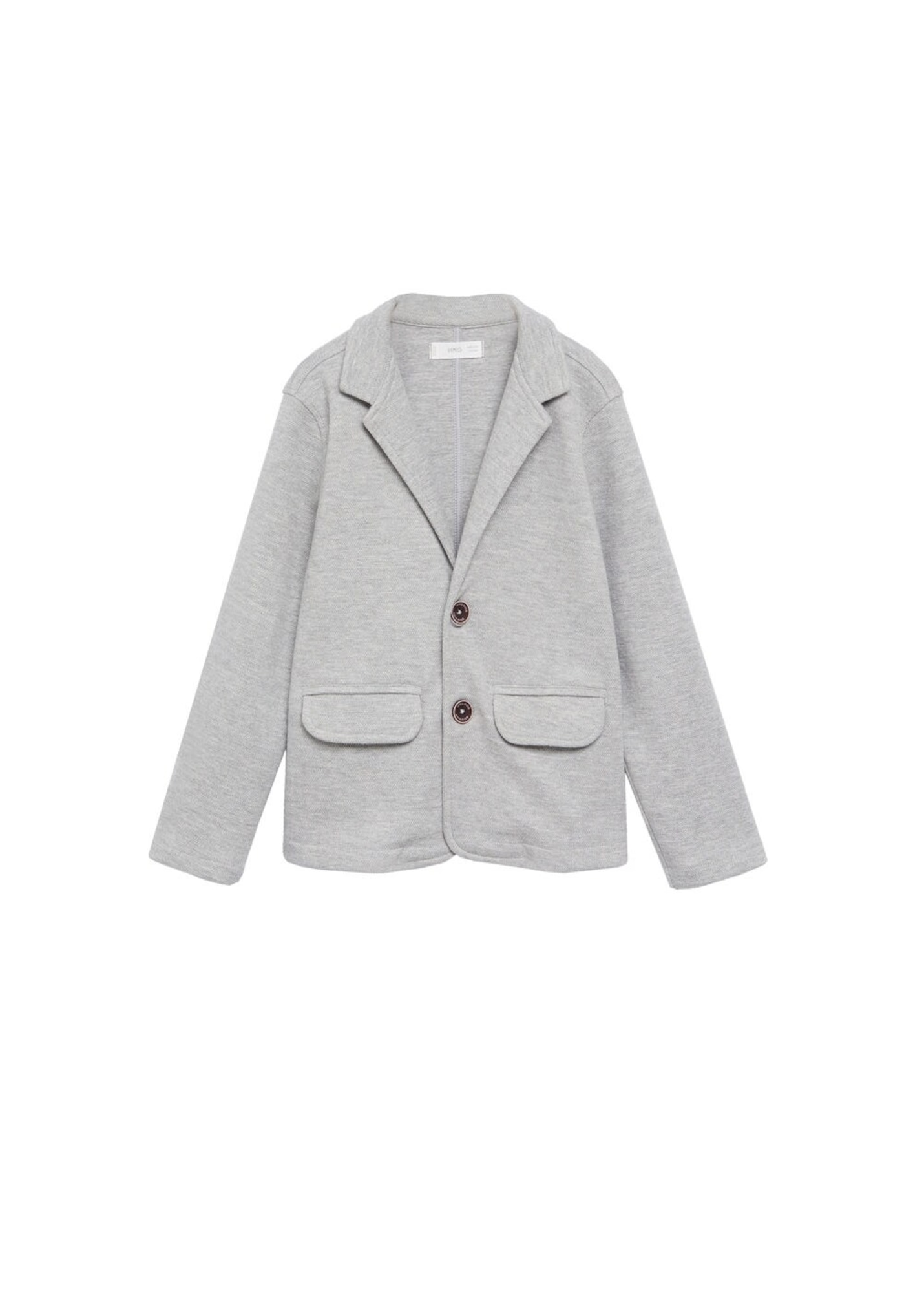 MANGO KIDS Pletená bunda  šedý melír