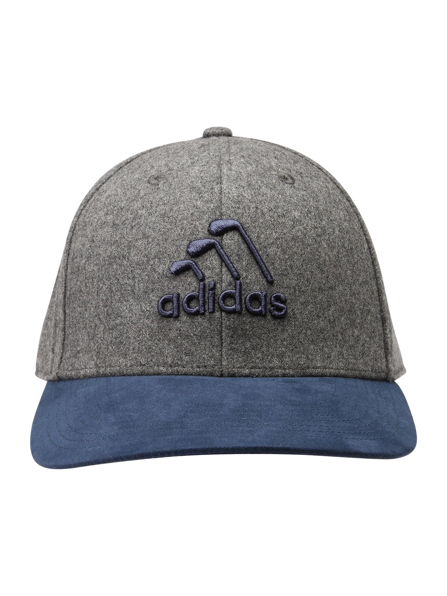adidas Golf Sportinė kepurė pilka / melsvai pilka