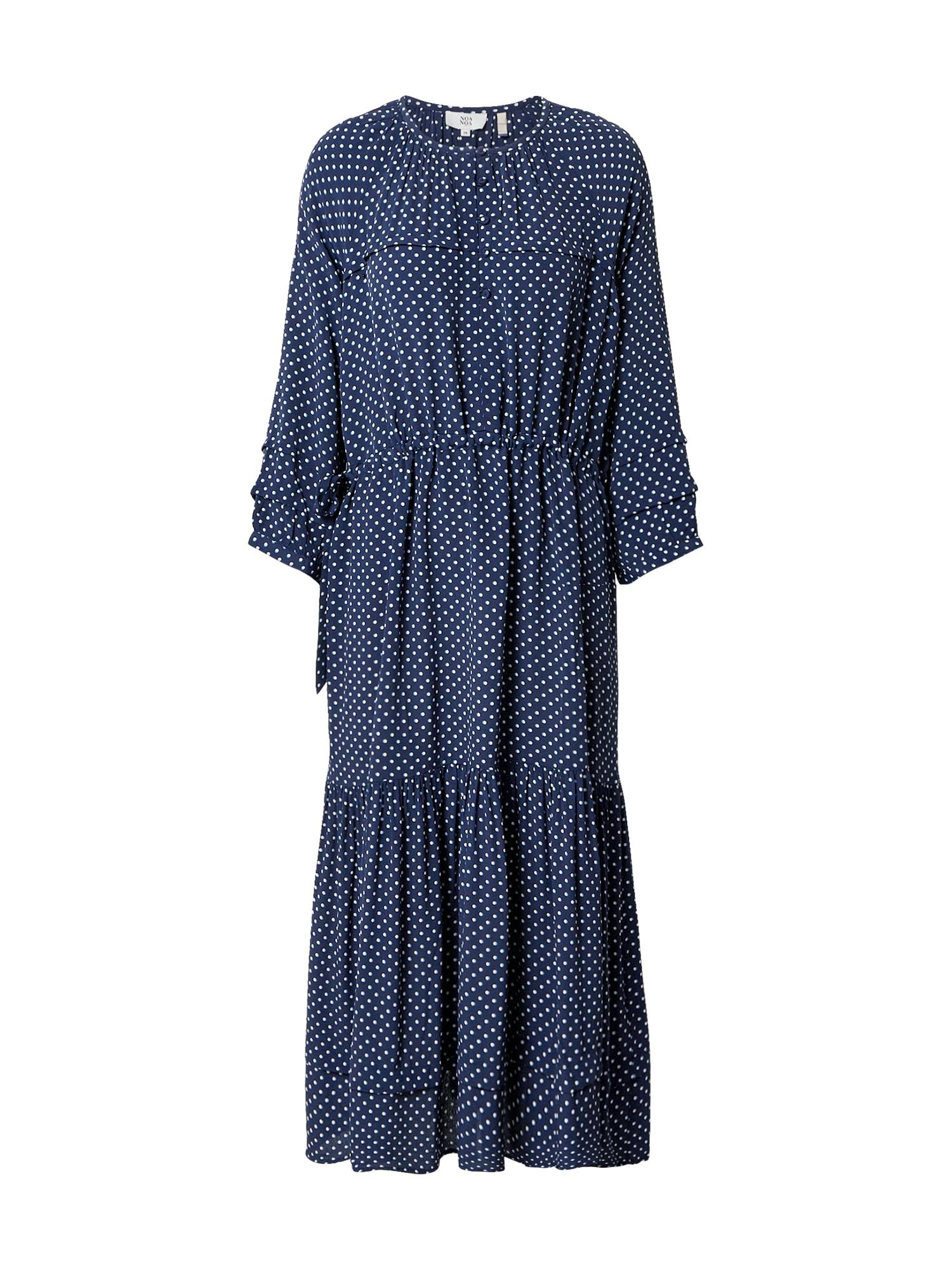 Noa Noa Palaidinės tipo suknelė balta / tamsiai mėlyna / šviesiai mėlyna