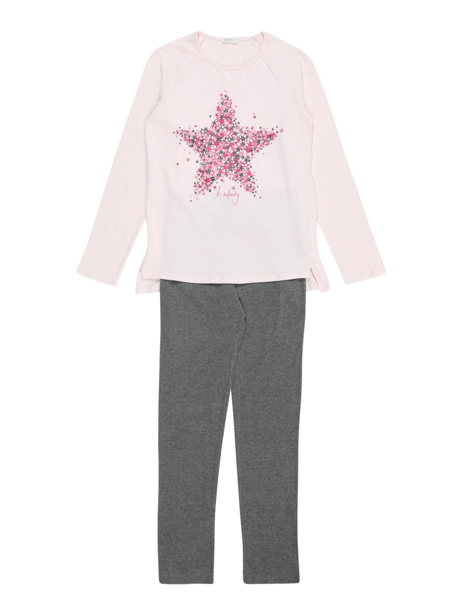 UNITED COLORS OF BENETTON Miego kostiumas pilka / rožių spalva