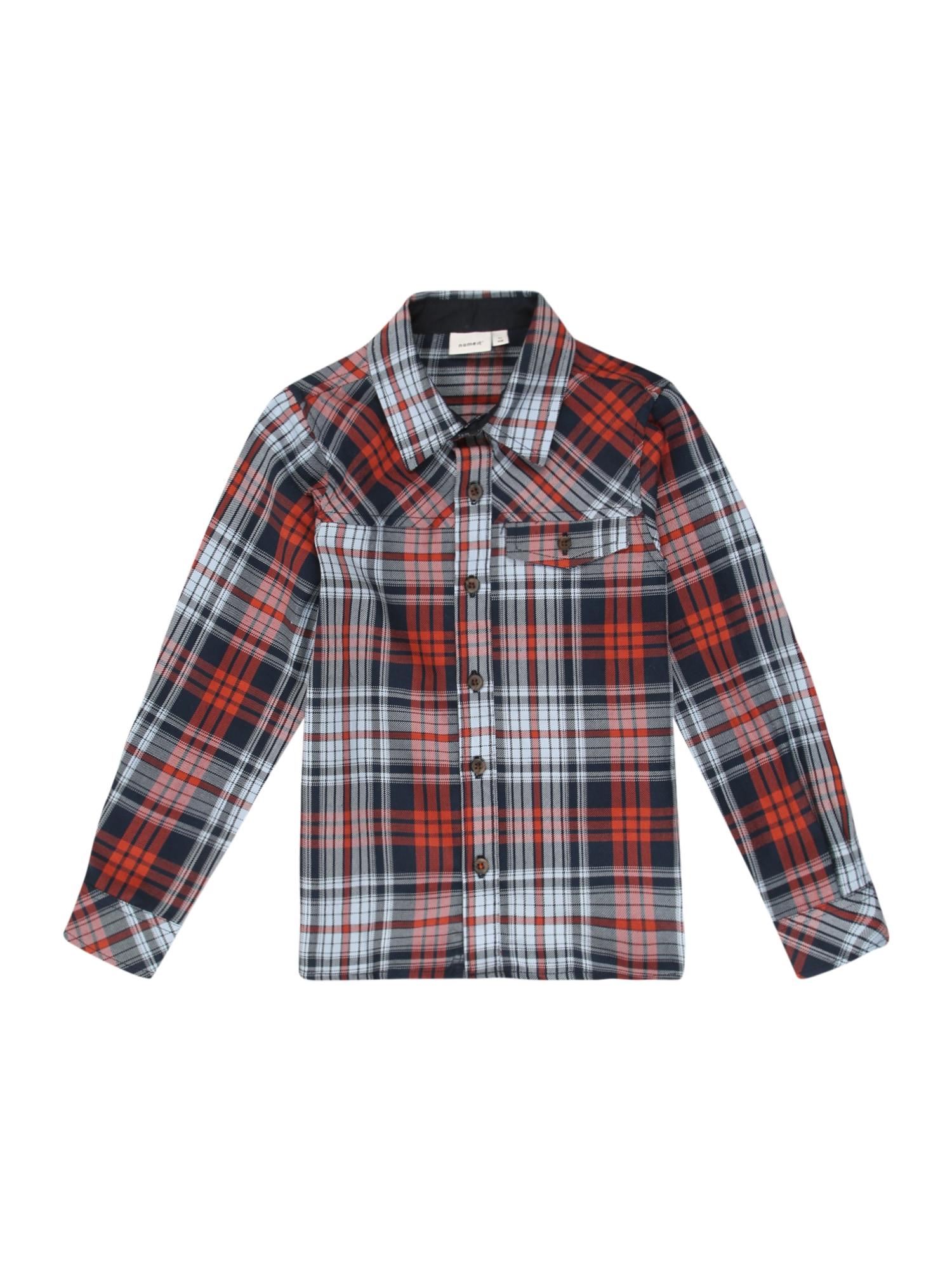NAME IT Košile  modrá / červená / bílá