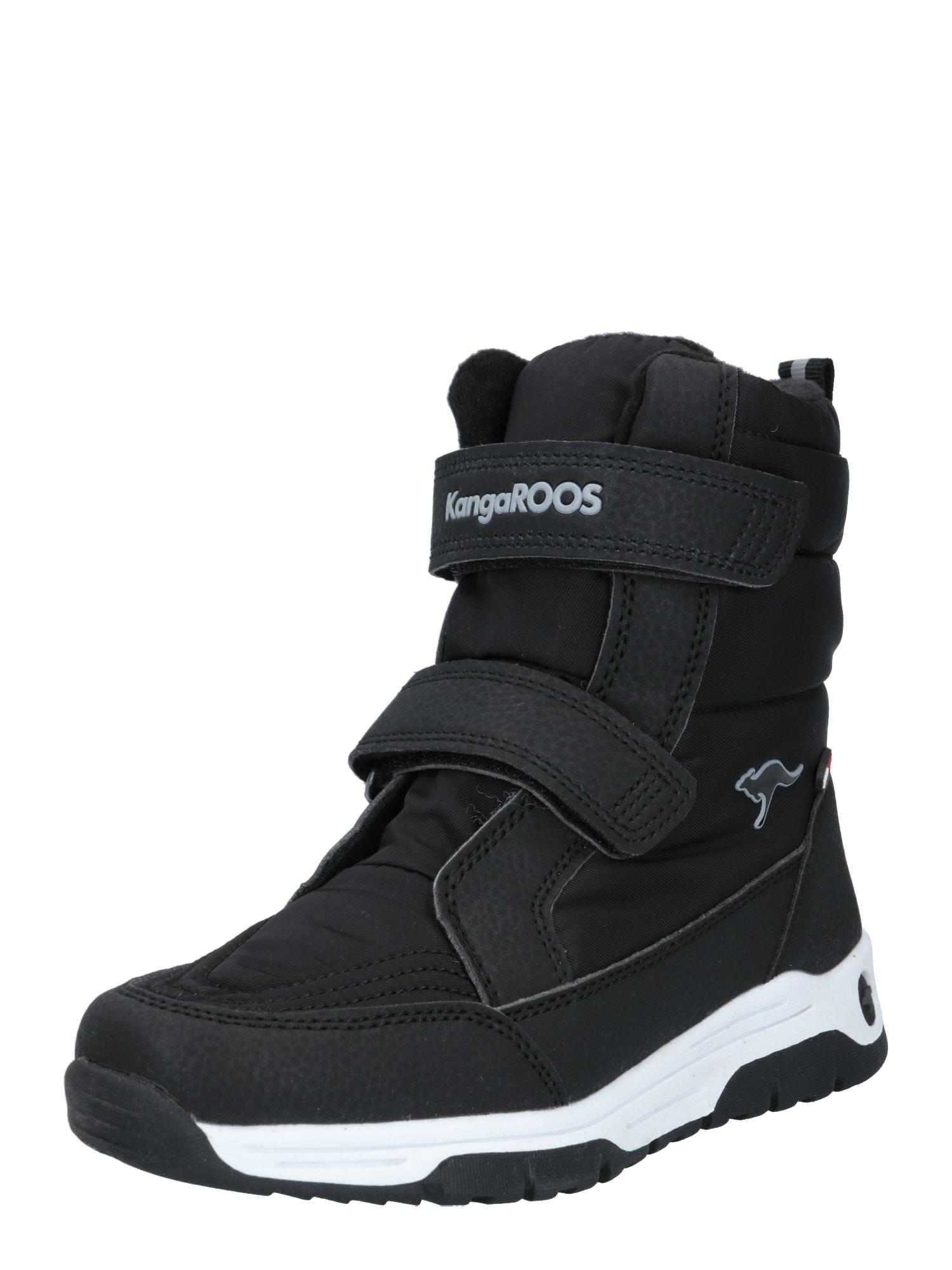 KangaROOS Sniego batai 'Major' juoda / tamsiai pilka