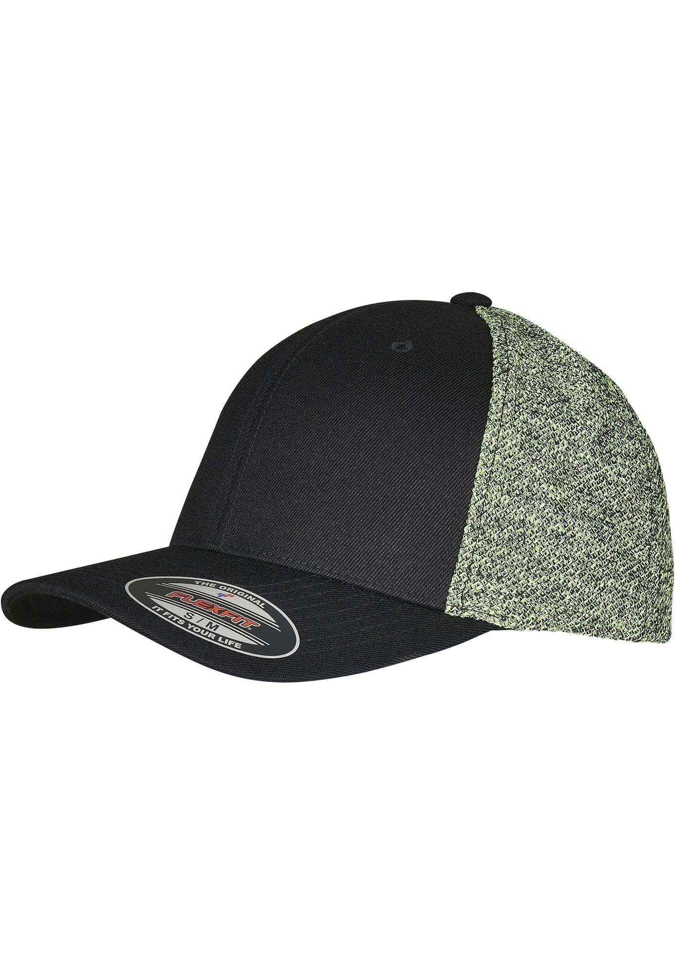 Flexfit Kepurė juoda / šviesiai žalia / balta / neoninė geltona