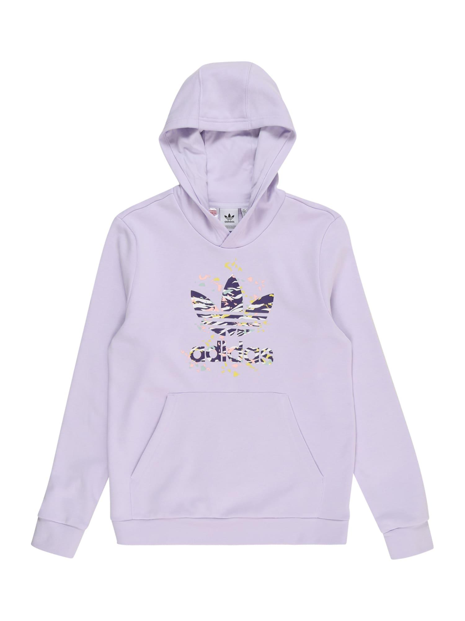 ADIDAS ORIGINALS Megztinis be užsegimo pastelinė violetinė / mišrios spalvos