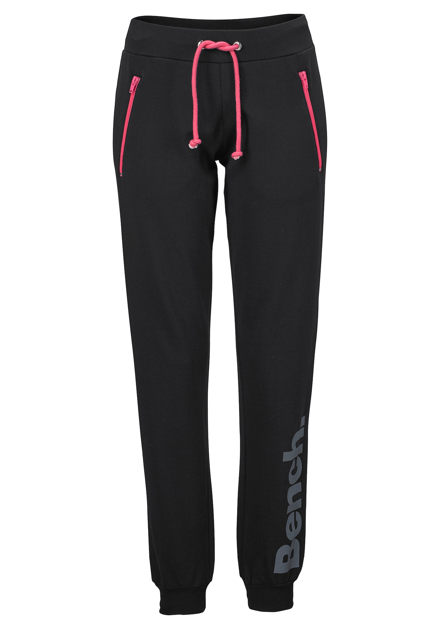 BENCH Kelnės juoda / rožinė / pilka