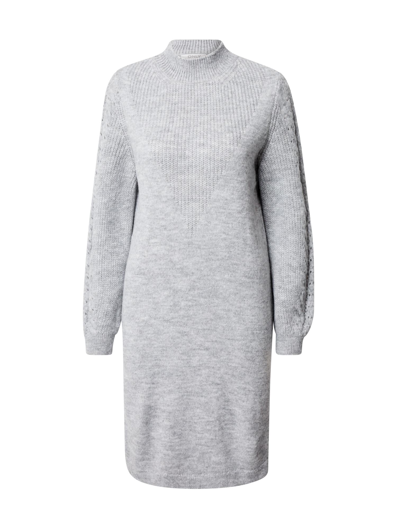 ONLY Úpletové šaty 'Pil'  šedá