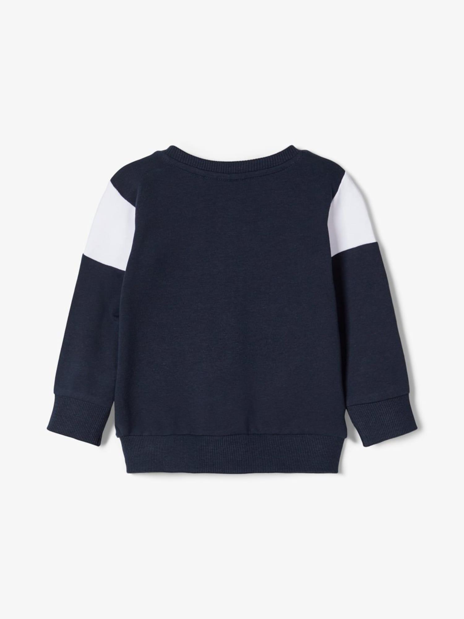 NAME IT Bluza rozpinana  niebieska noc / biały