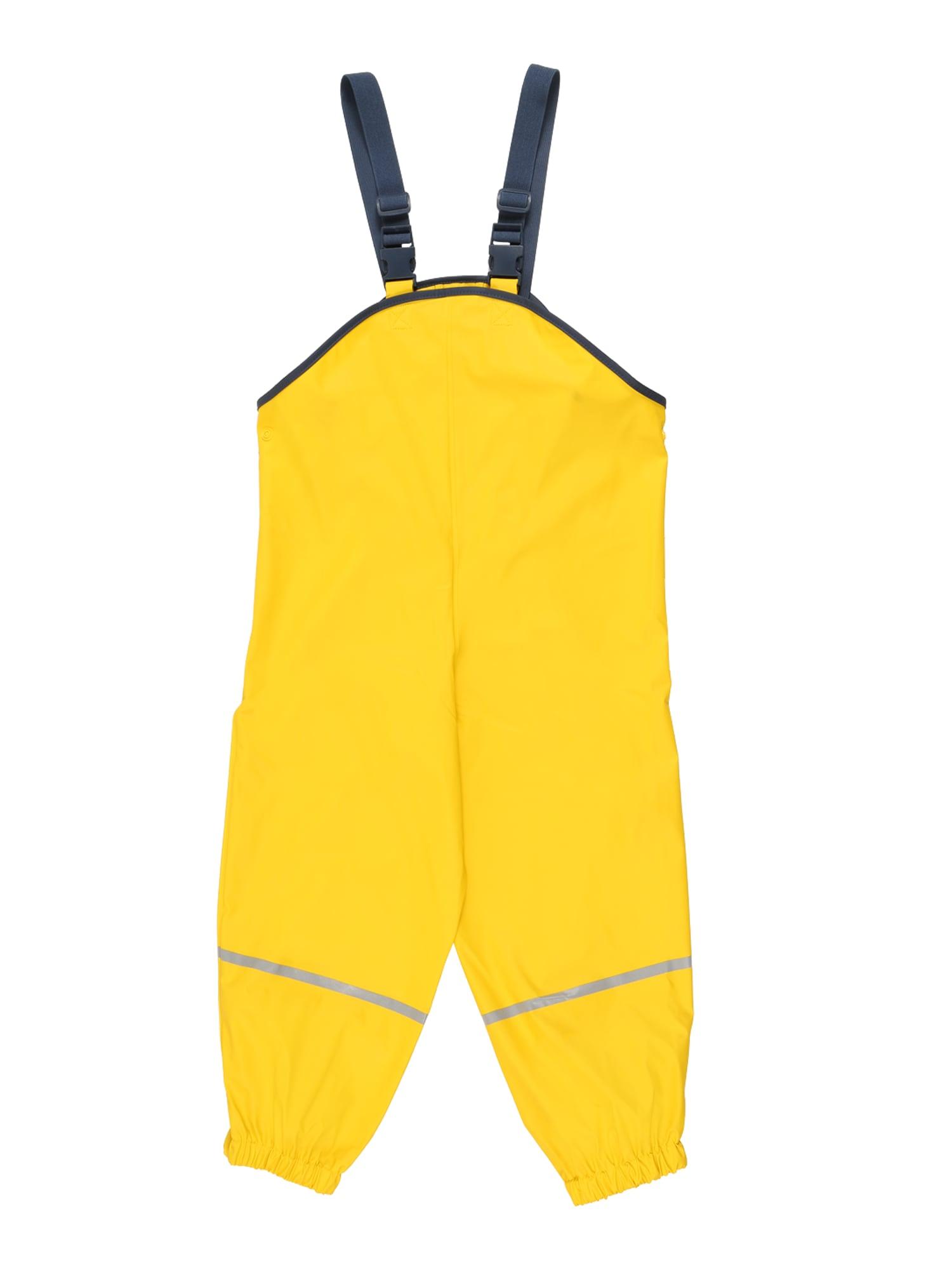 PLAYSHOES Funkcinės kelnės neoninė geltona / tamsiai mėlyna jūros spalva / šviesiai pilka