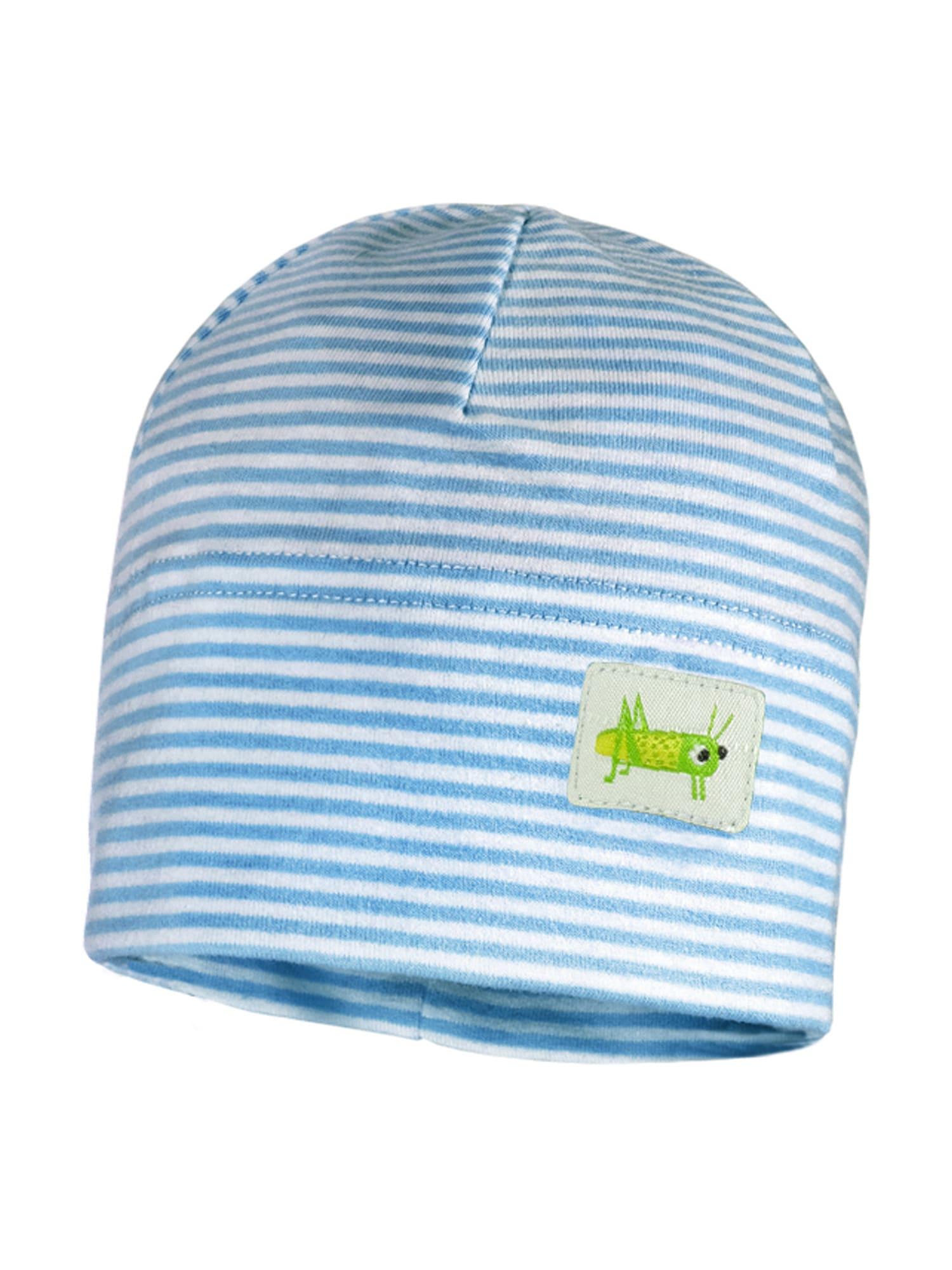MAXIMO Megzta kepurė mėlyna / balta