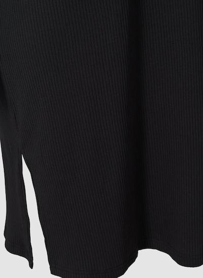 Kleid von Zizzi.  Schönes einfarbiges Sommerkleid aus schöner, bequemer Rippqualität mit Baumwolle. Das Kleid hat kurze Ärmel, einen V-Ausschnitt und einen Schlitz an den Seiten, der einen femininen Touch verleiht.