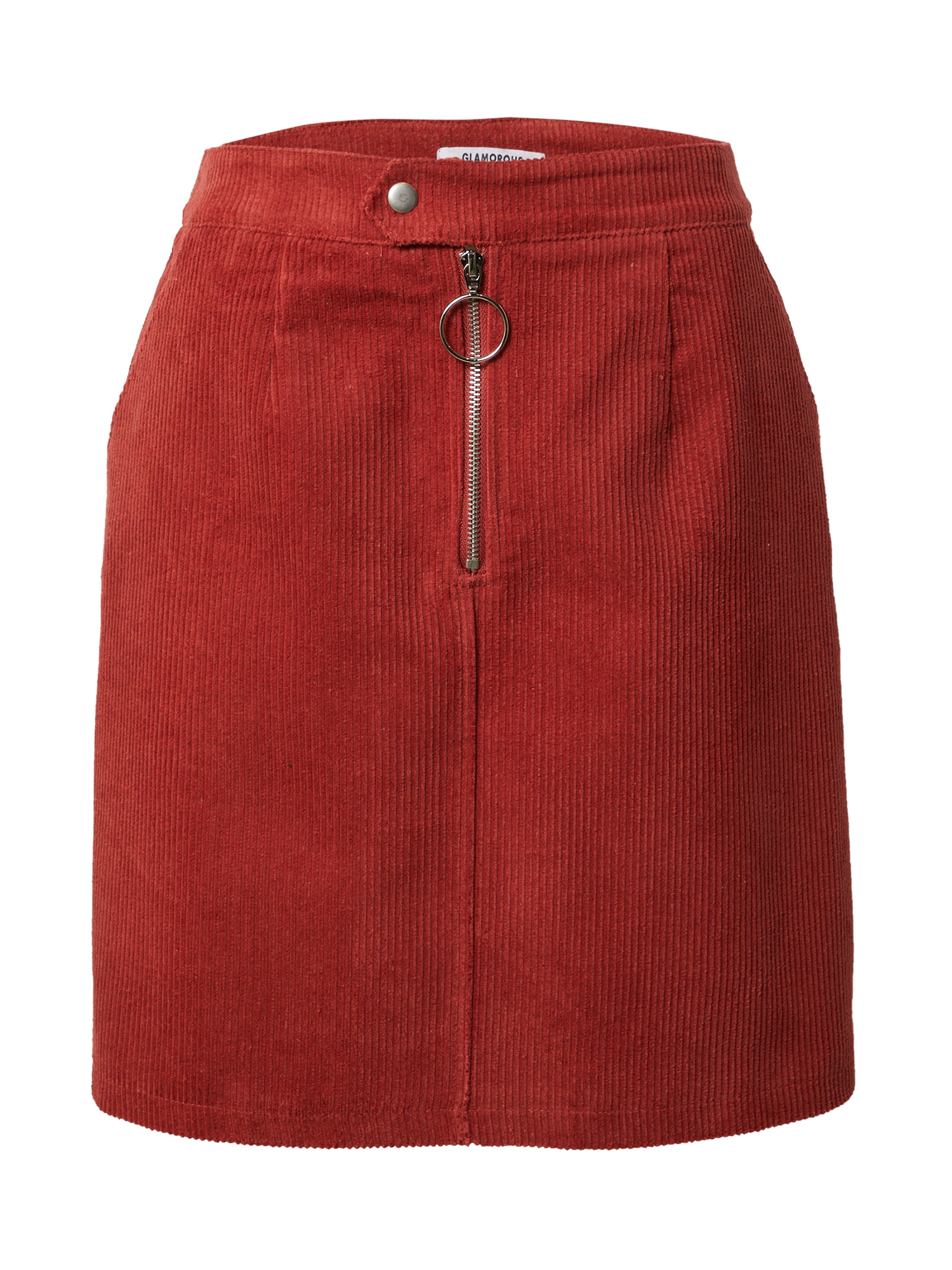 GLAMOROUS Sijonas pastelinė raudona