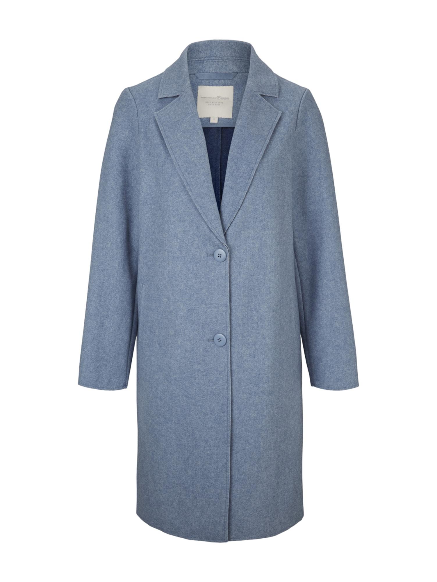 TOM TAILOR DENIM Demisezoninis paltas mėlyna dūmų spalva