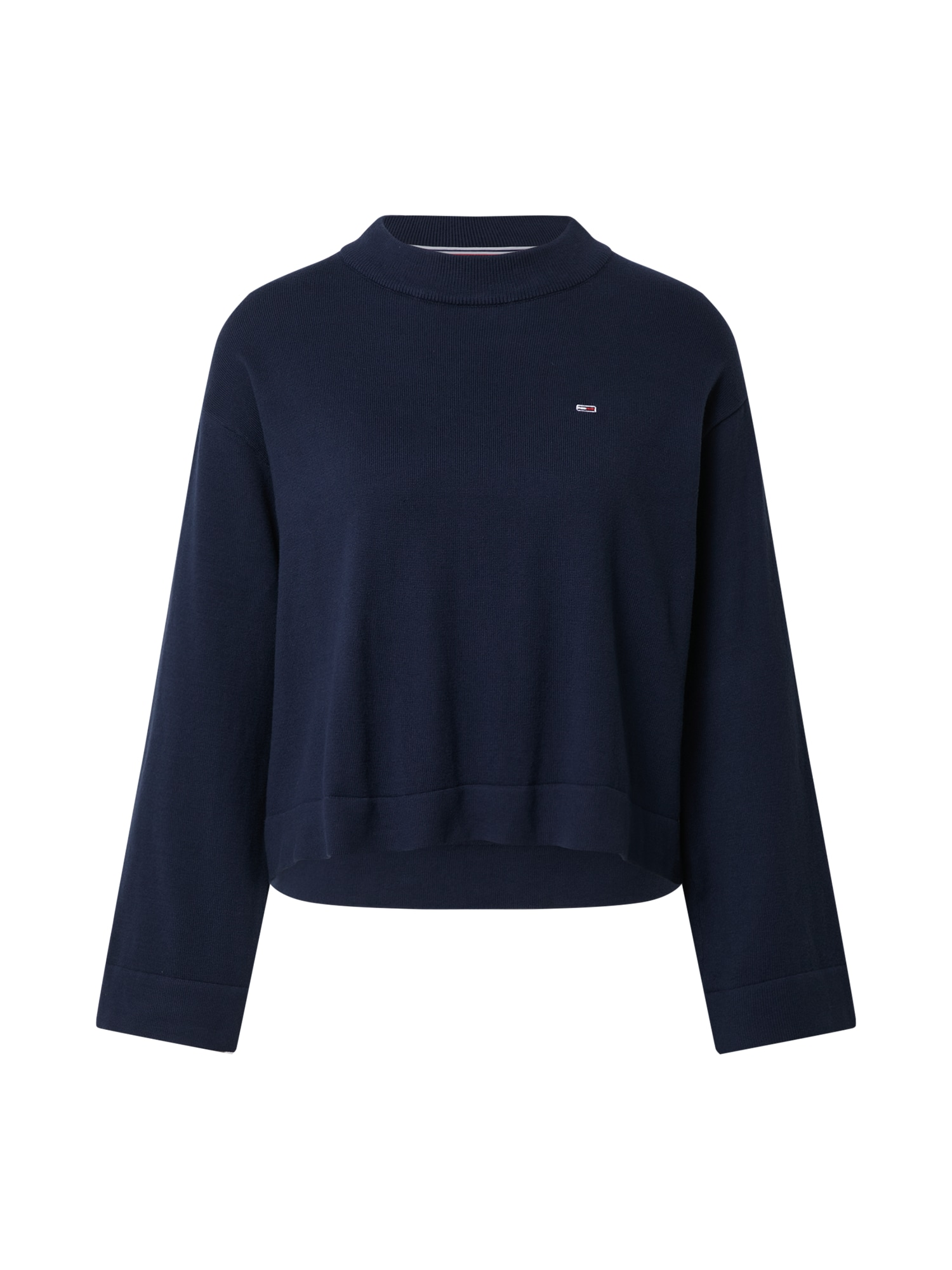 Tommy Jeans Megztinis tamsiai mėlyna / balta / šviesiai raudona