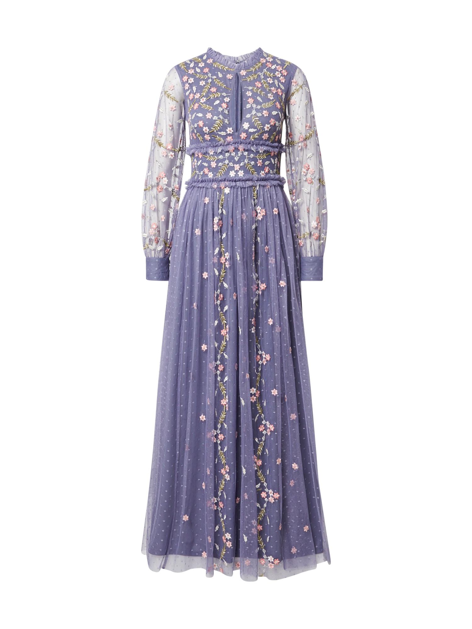 Frock and Frill Vakarinė suknelė mėlyna / smėlio spalva / rožių spalva / šviesiai žalia