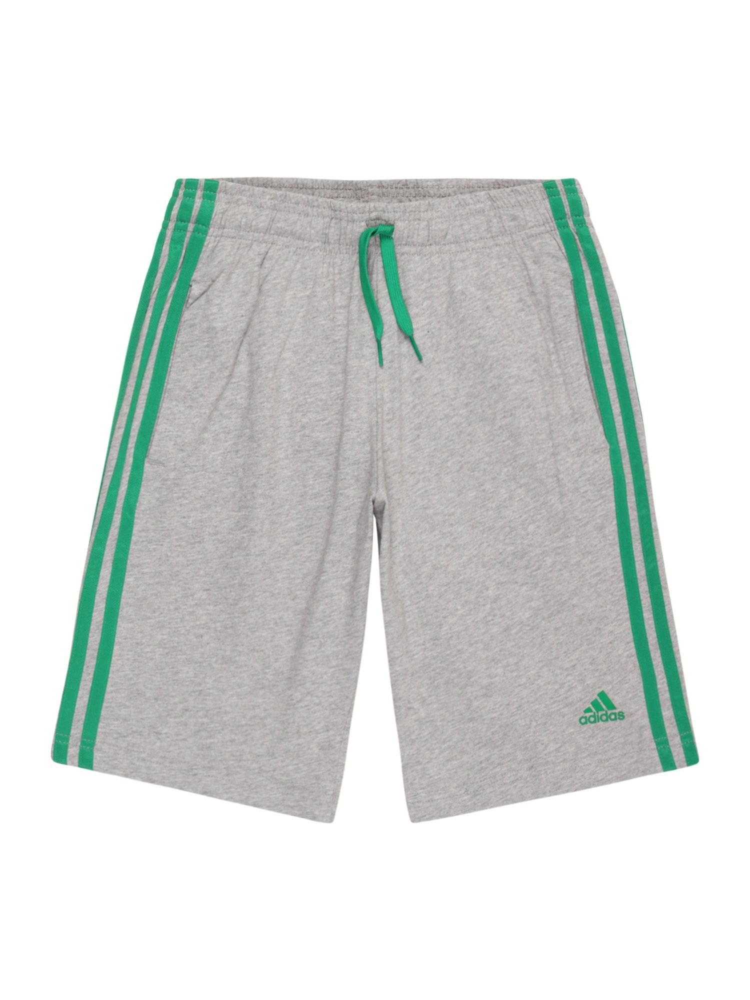 ADIDAS PERFORMANCE Sportinės kelnės margai pilka / žalia