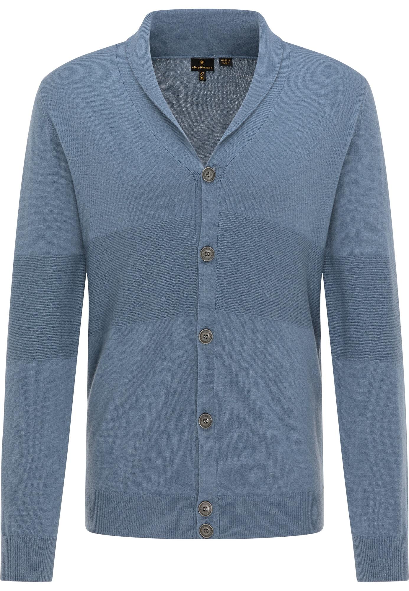 DreiMaster Klassik Kardiganas melsvai pilka / mėlyna dūmų spalva
