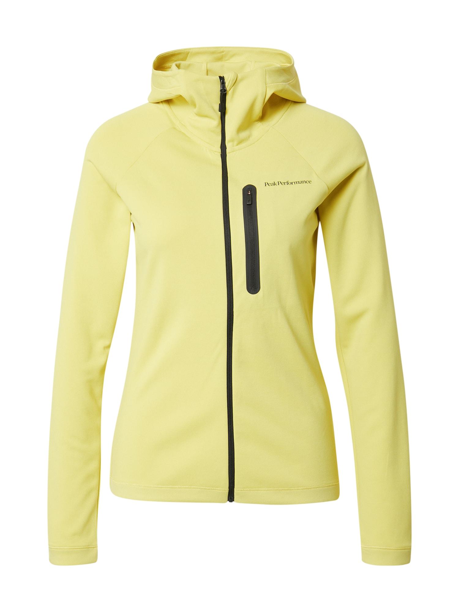 PEAK PERFORMANCE Sportinis džemperis citrinos spalva