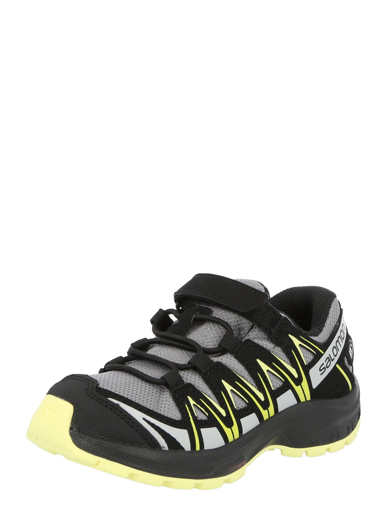 SALOMON Sportiniai batai pilka / juoda / geltona