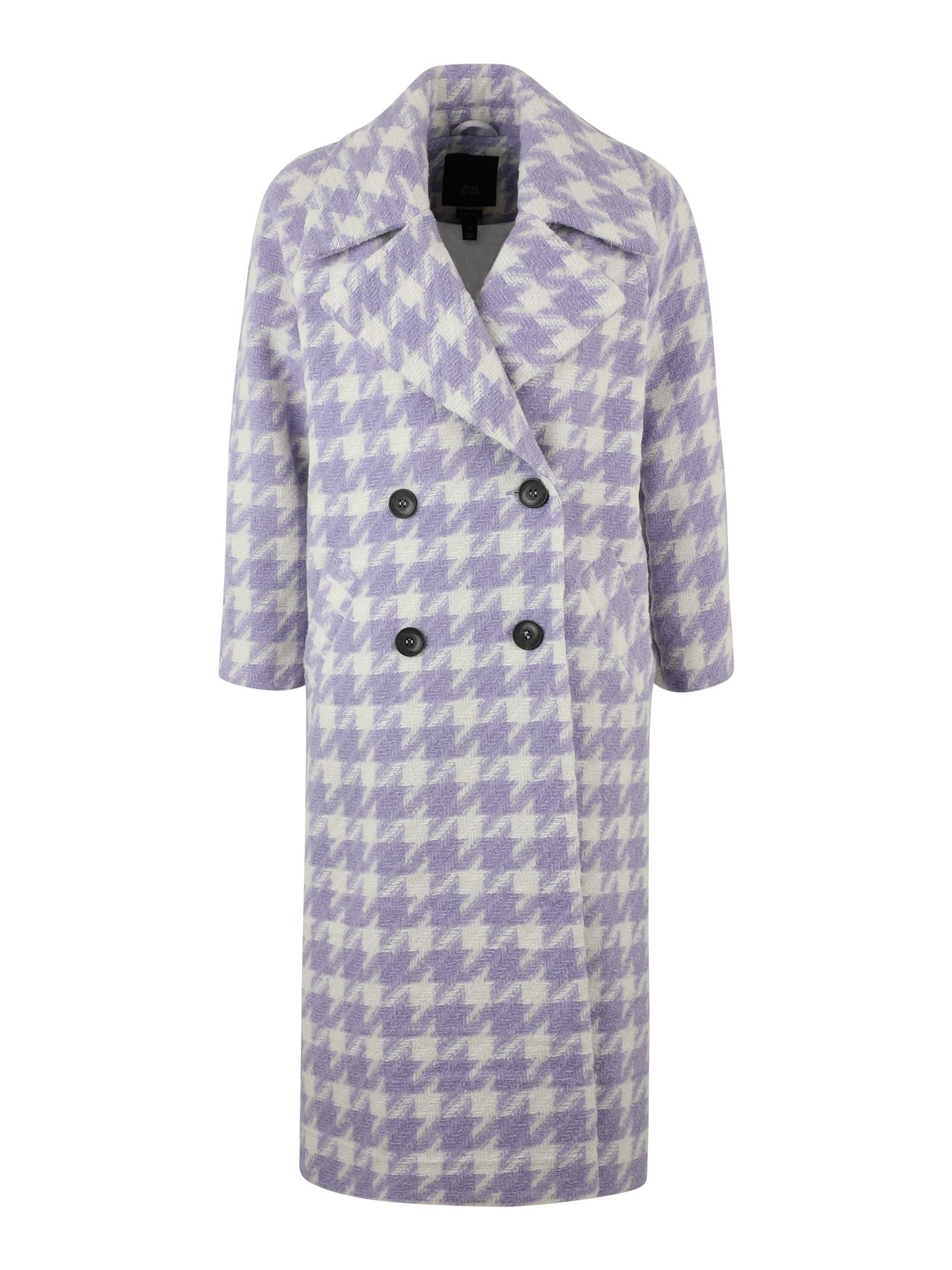 River Island Petite Demisezoninis paltas balta / purpurinė