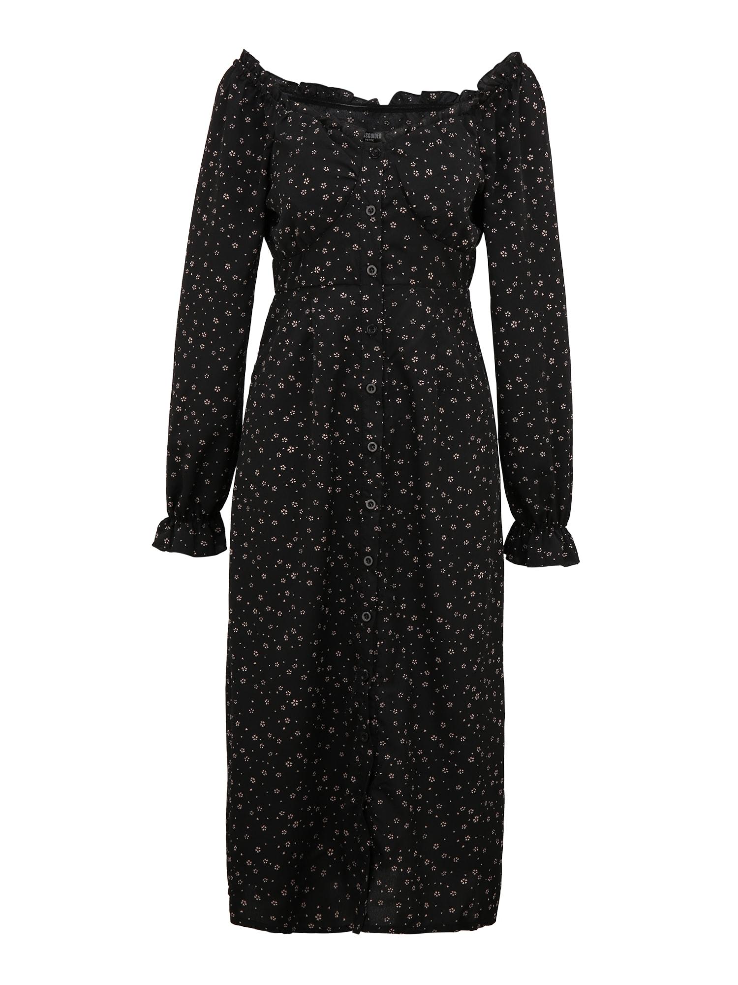 Missguided (Petite) Palaidinės tipo suknelė juoda / rožių spalva
