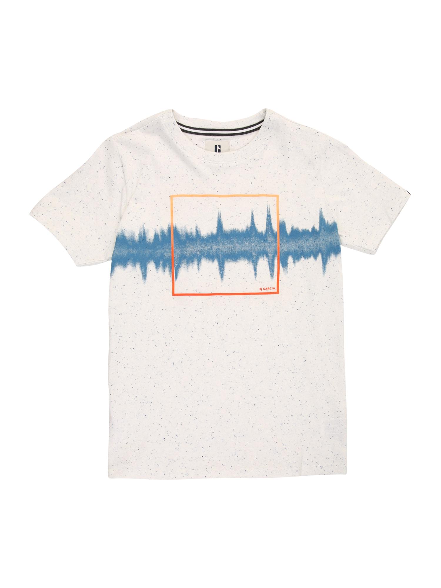 GARCIA Marškinėliai balkšva / melsvai pilka / oranžinė-raudona