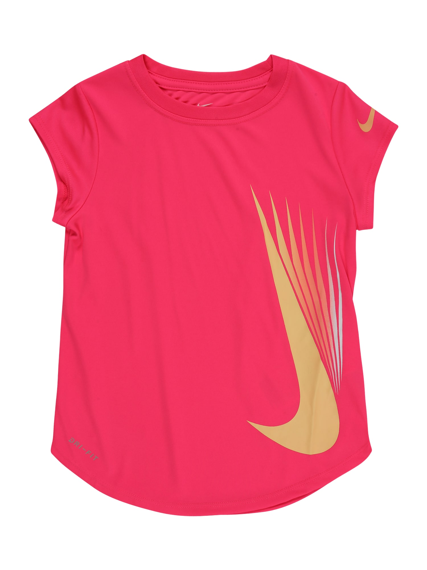 NIKE Sportiniai marškinėliai neoninė rožinė / geltona