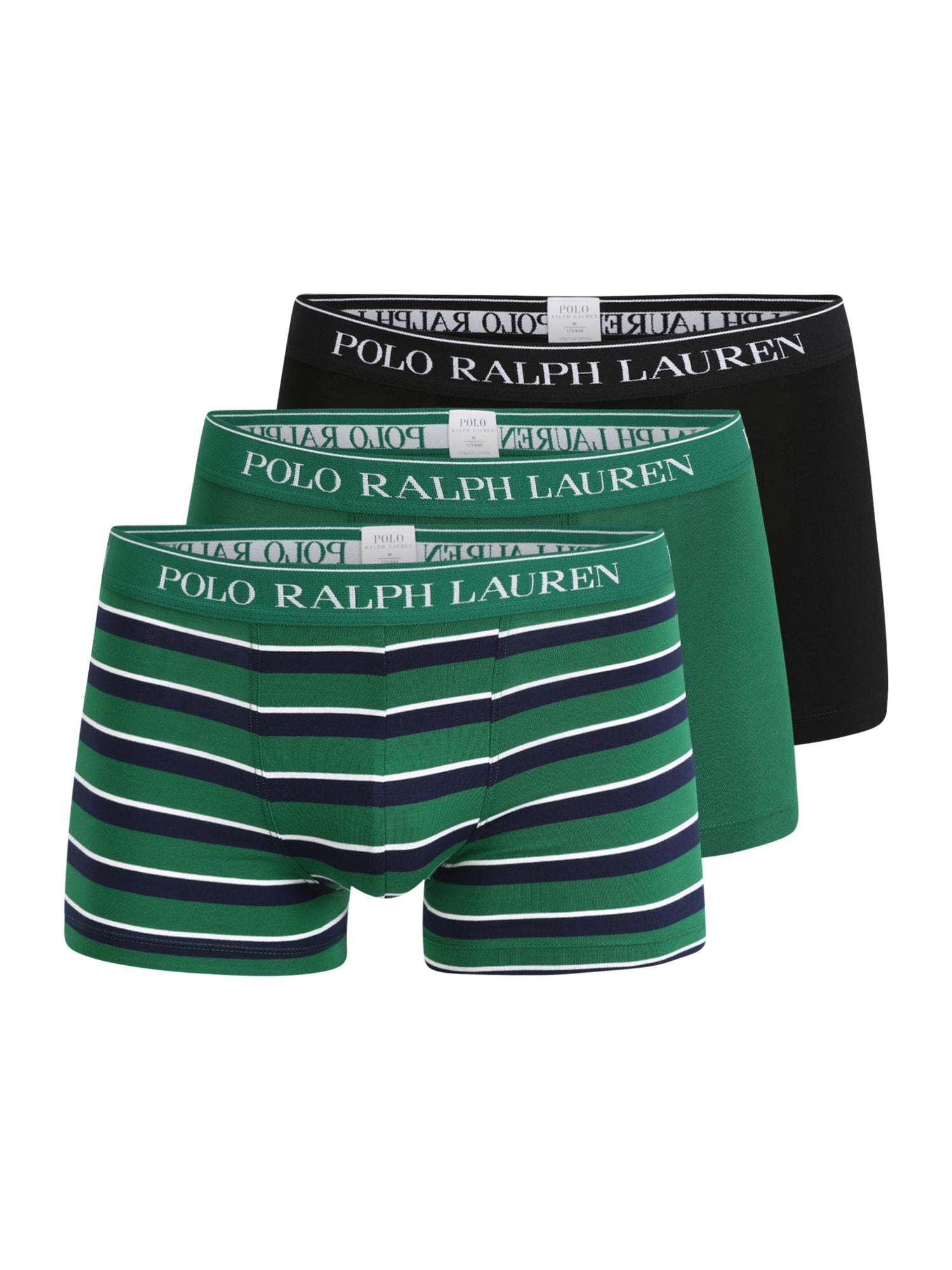 POLO RALPH LAUREN Boxerky  zelená / černá / bílá / námořnická modř