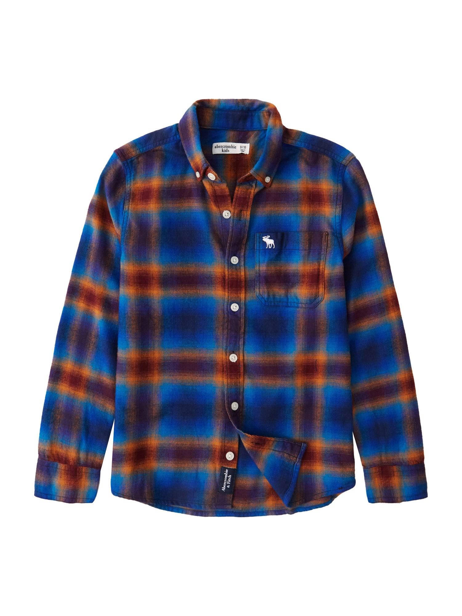 Abercrombie & Fitch Marškiniai mėlyna / rusva / violetinė-mėlyna