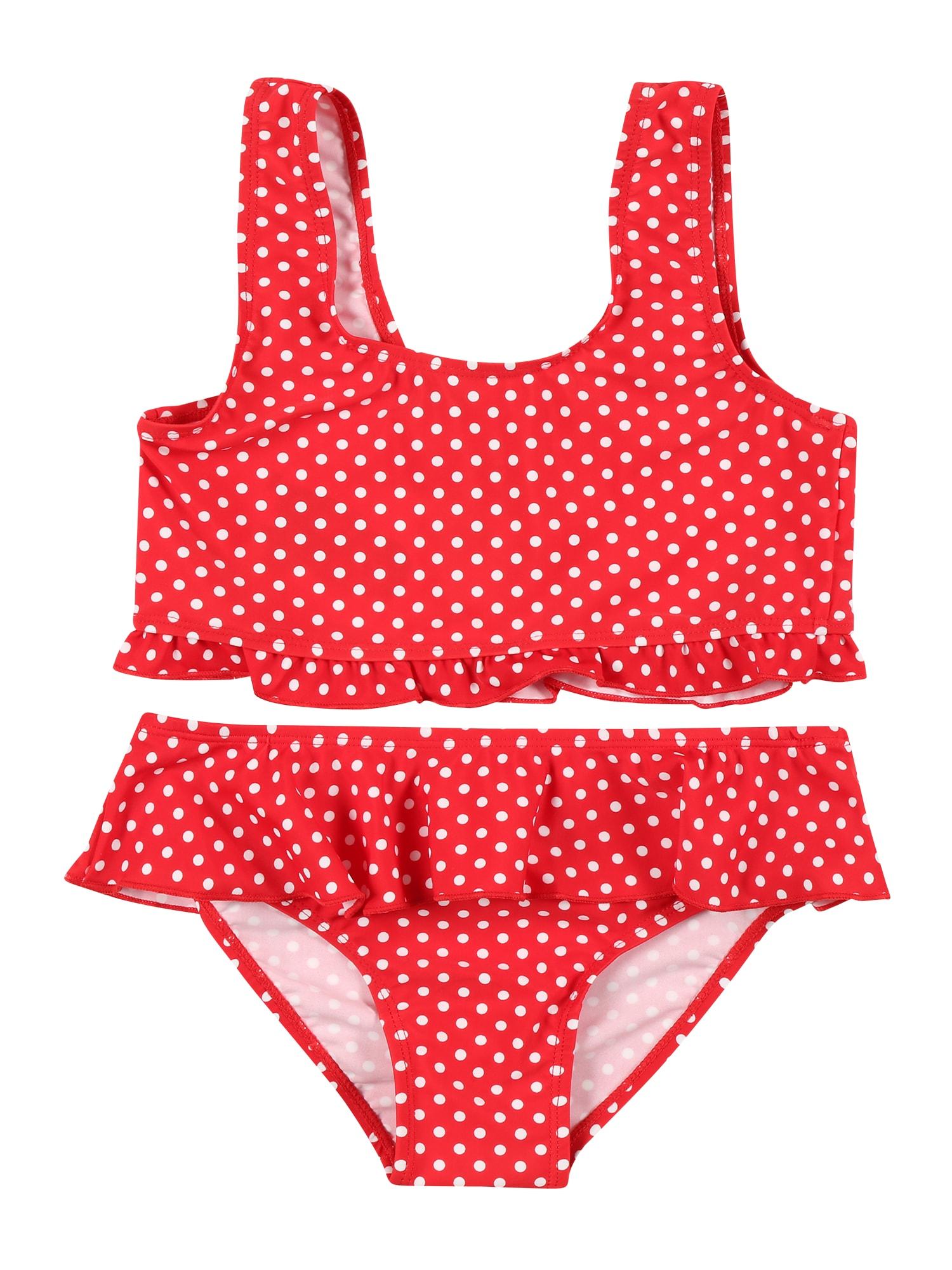 PLAYSHOES Bikinis raudona / balta