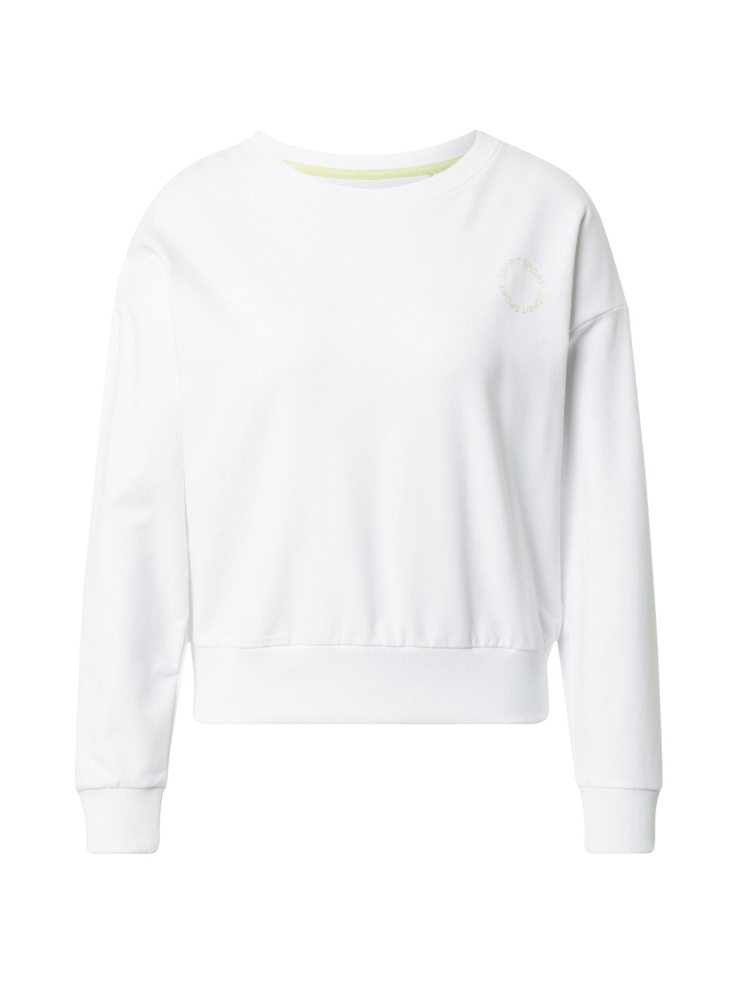 ESPRIT SPORT Sportinio tipo megztinis balta / šviesiai žalia