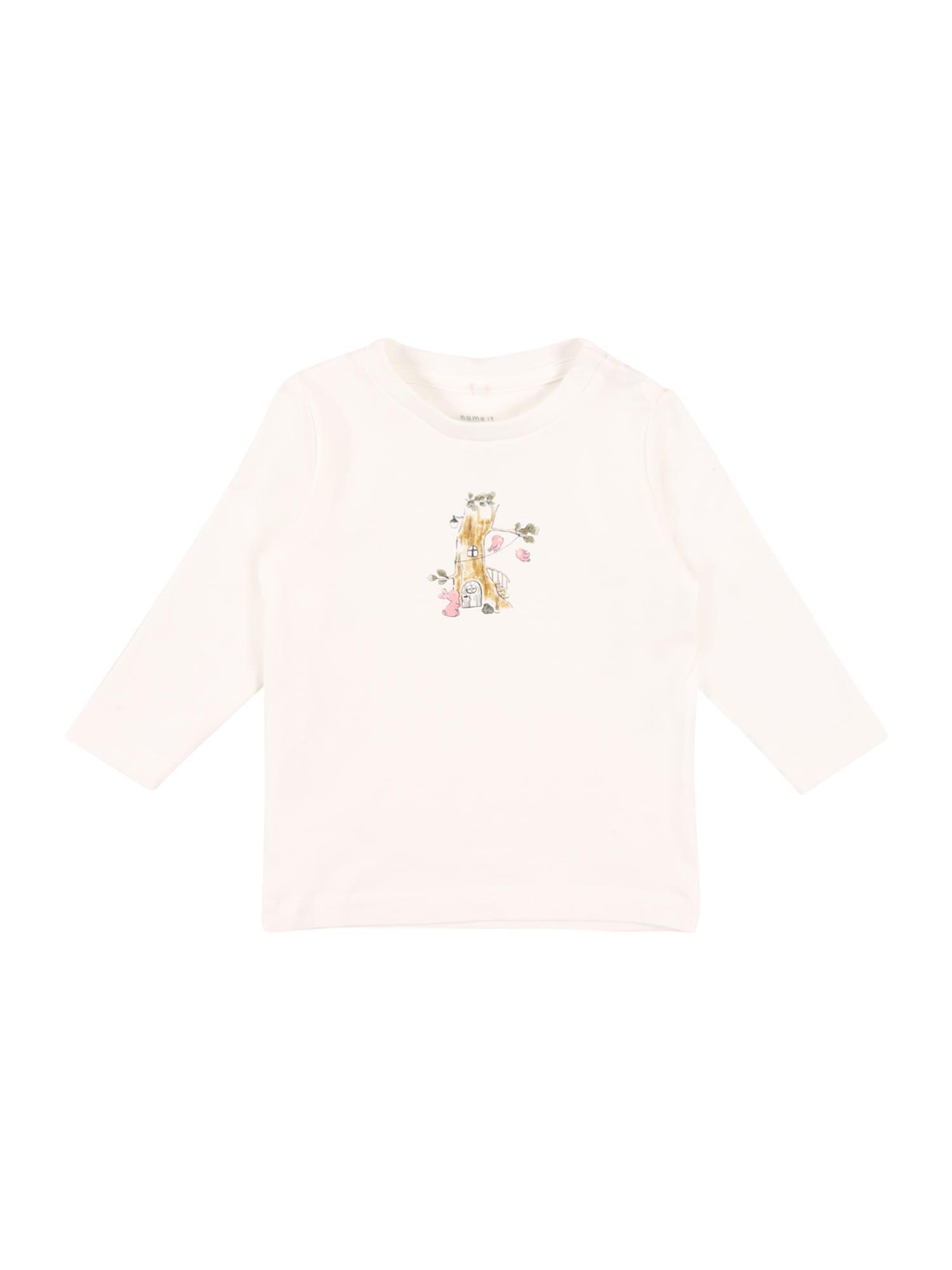 NAME IT Marškinėliai 'SOLAJMA' balta / mišrios spalvos