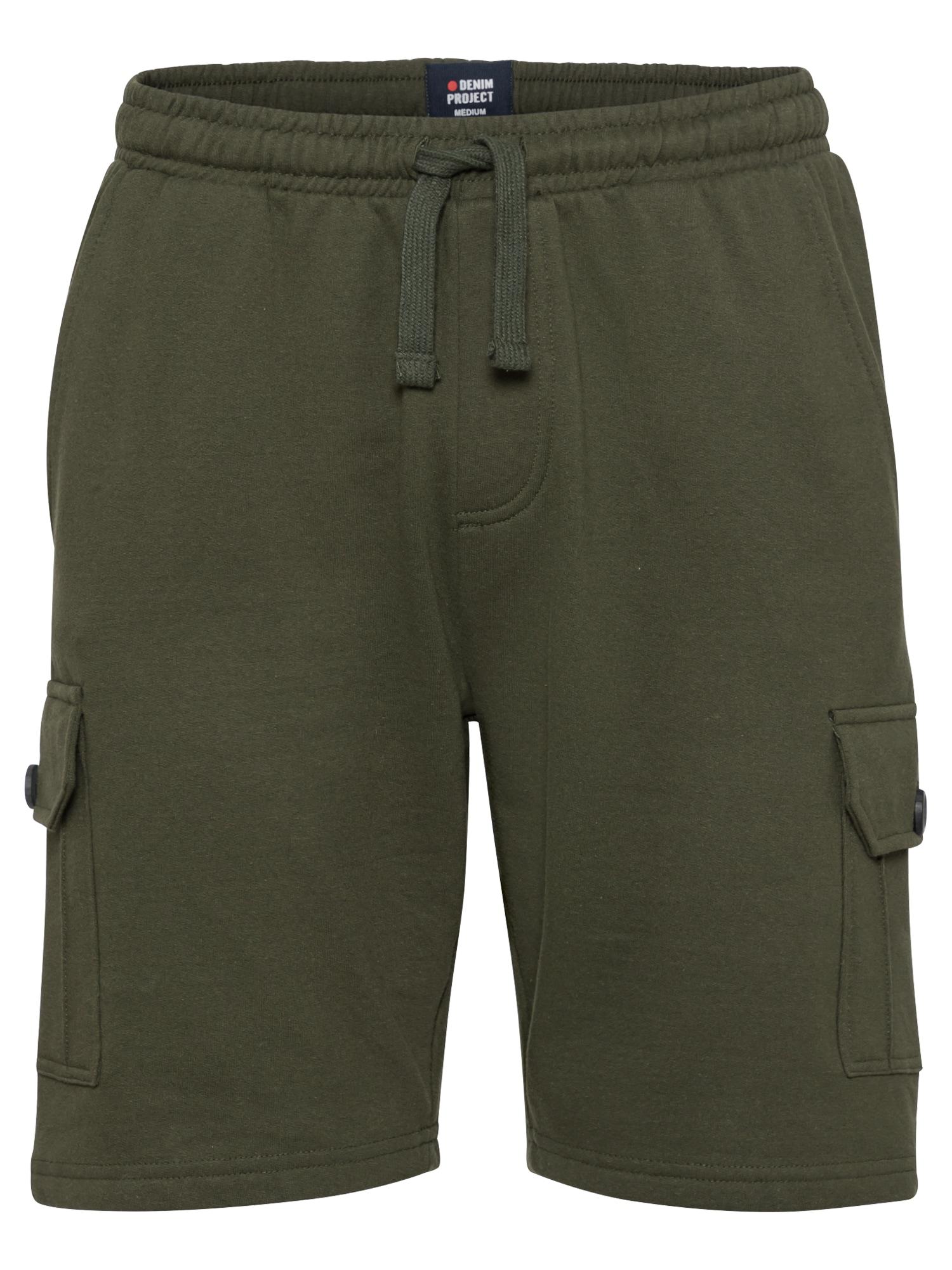 Denim Project Laisvo stiliaus kelnės rusvai žalia