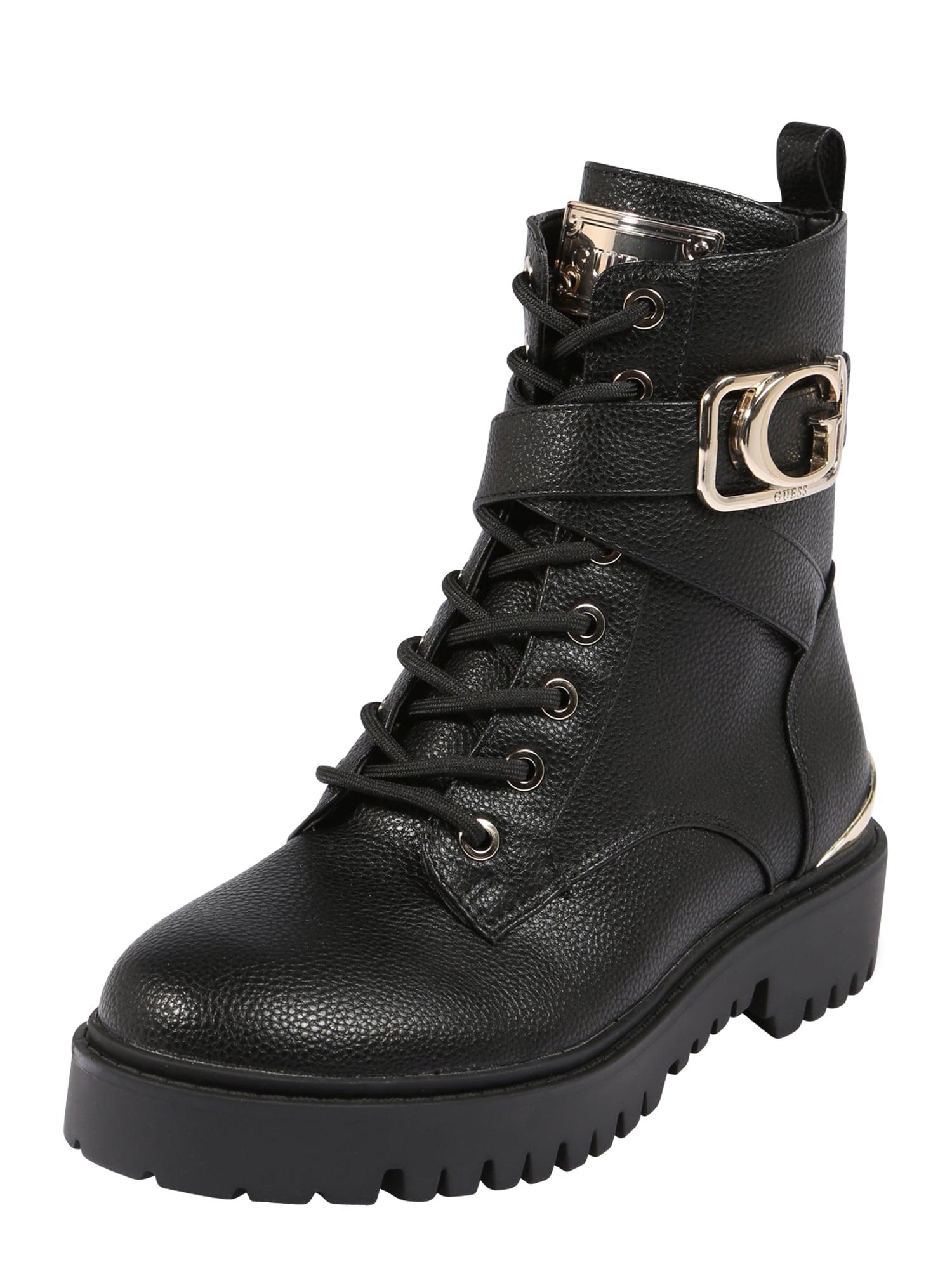 GUESS Auliniai batai su kulniuku 'ORANA' auksas / juoda