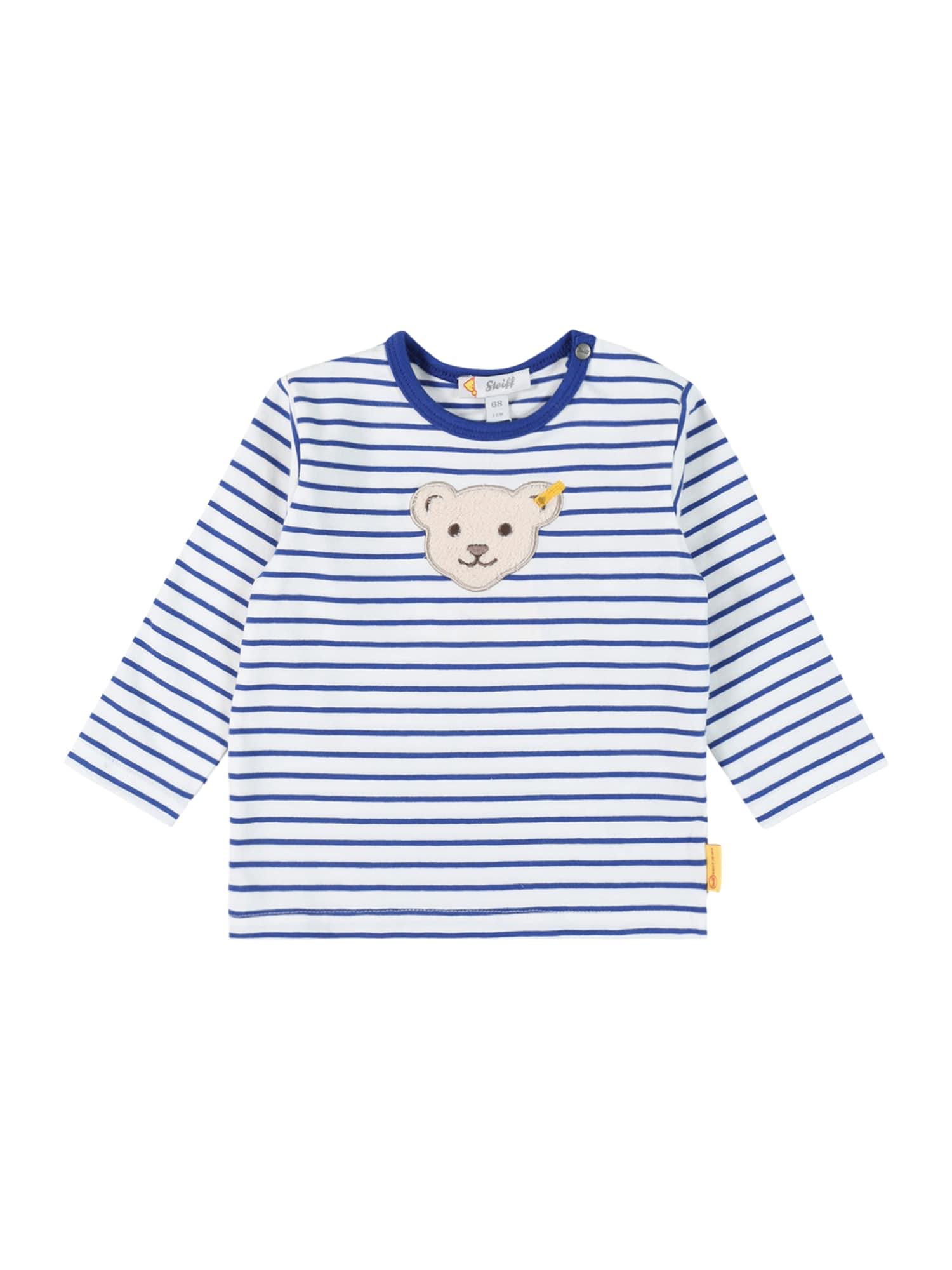 Steiff Collection Marškinėliai balta / mėlyna / smėlio