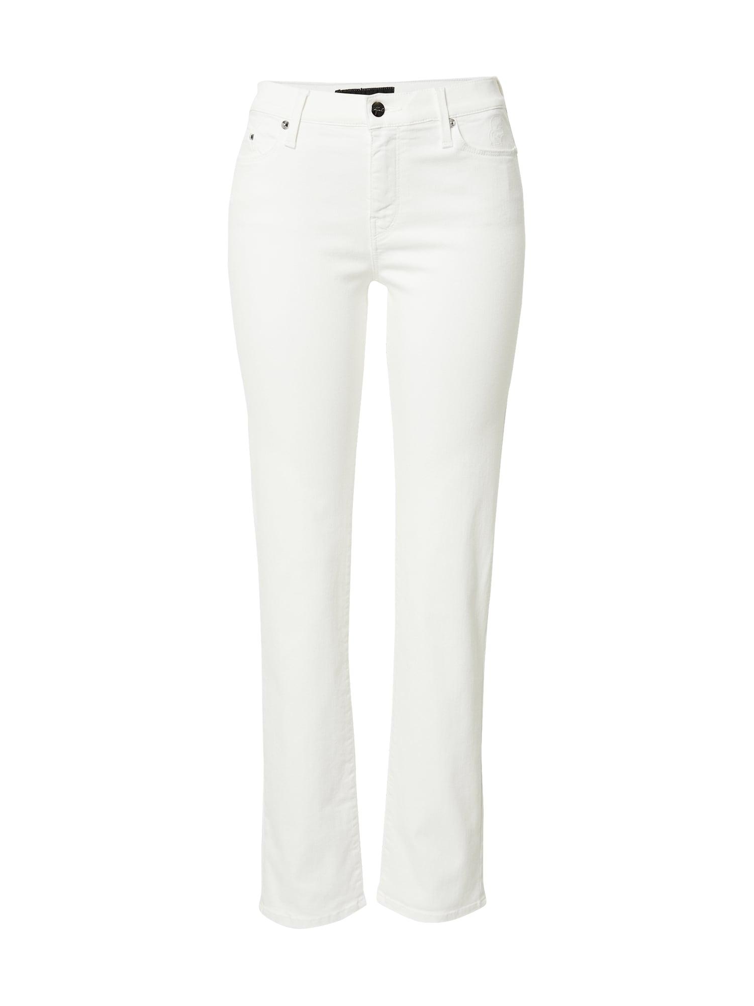 Karl Lagerfeld Denim Džinsai balto džinso spalva