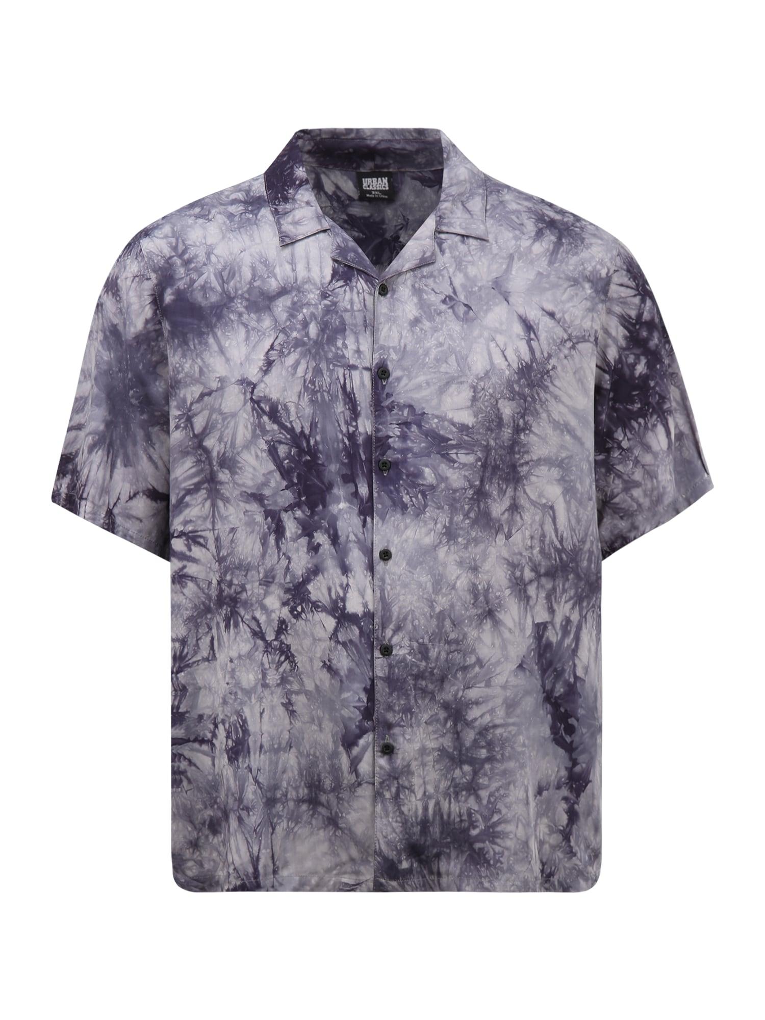 Urban Classics Plus Size Marškiniai indigo spalva / balta / šviesiai pilka