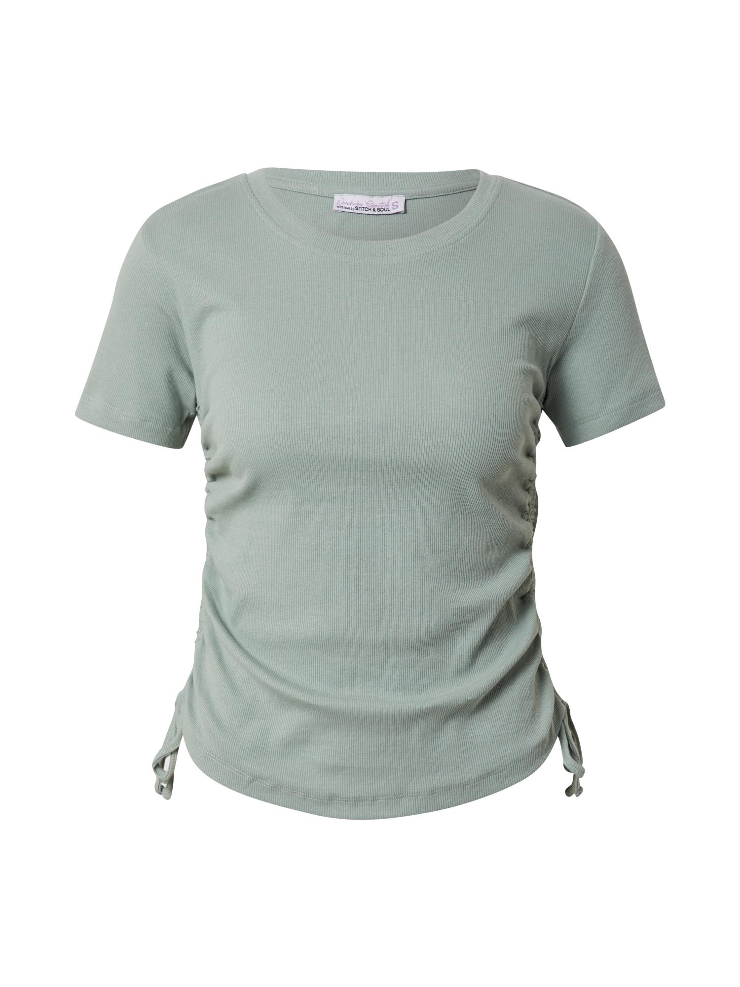 Stitch and Soul Marškinėliai pastelinė žalia