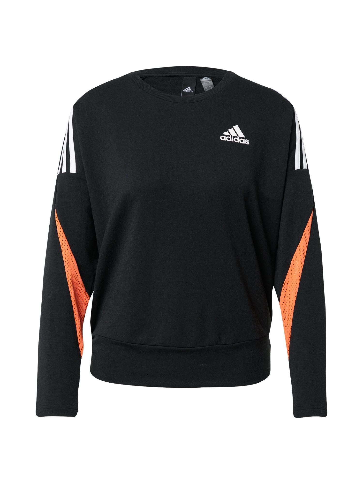 ADIDAS PERFORMANCE Sportovní mikina  černá / bílá / oranžová