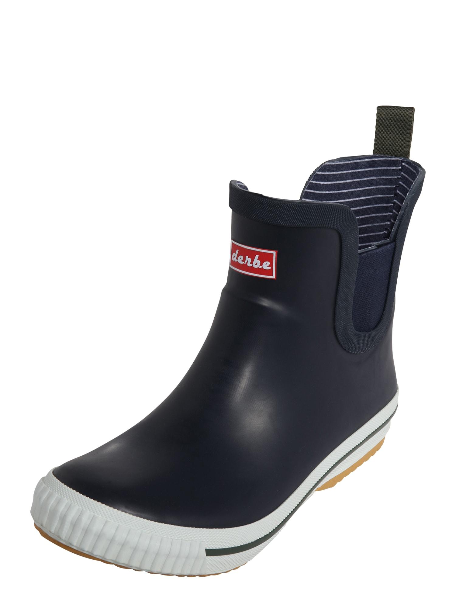 Derbe Guminiai batai tamsiai mėlyna jūros spalva / balta / raudona