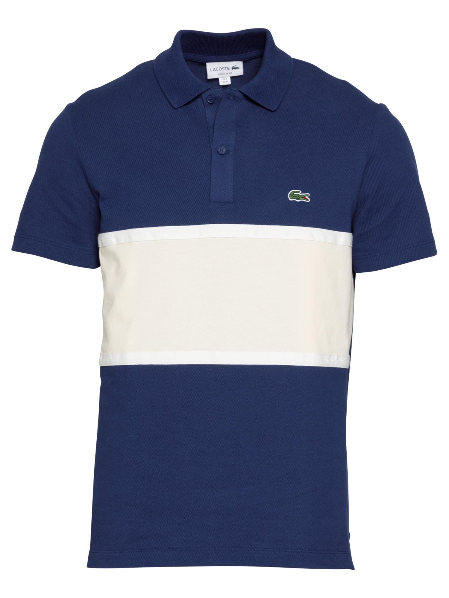 LACOSTE Marškinėliai tamsiai mėlyna / balkšva / šviesiai žalia