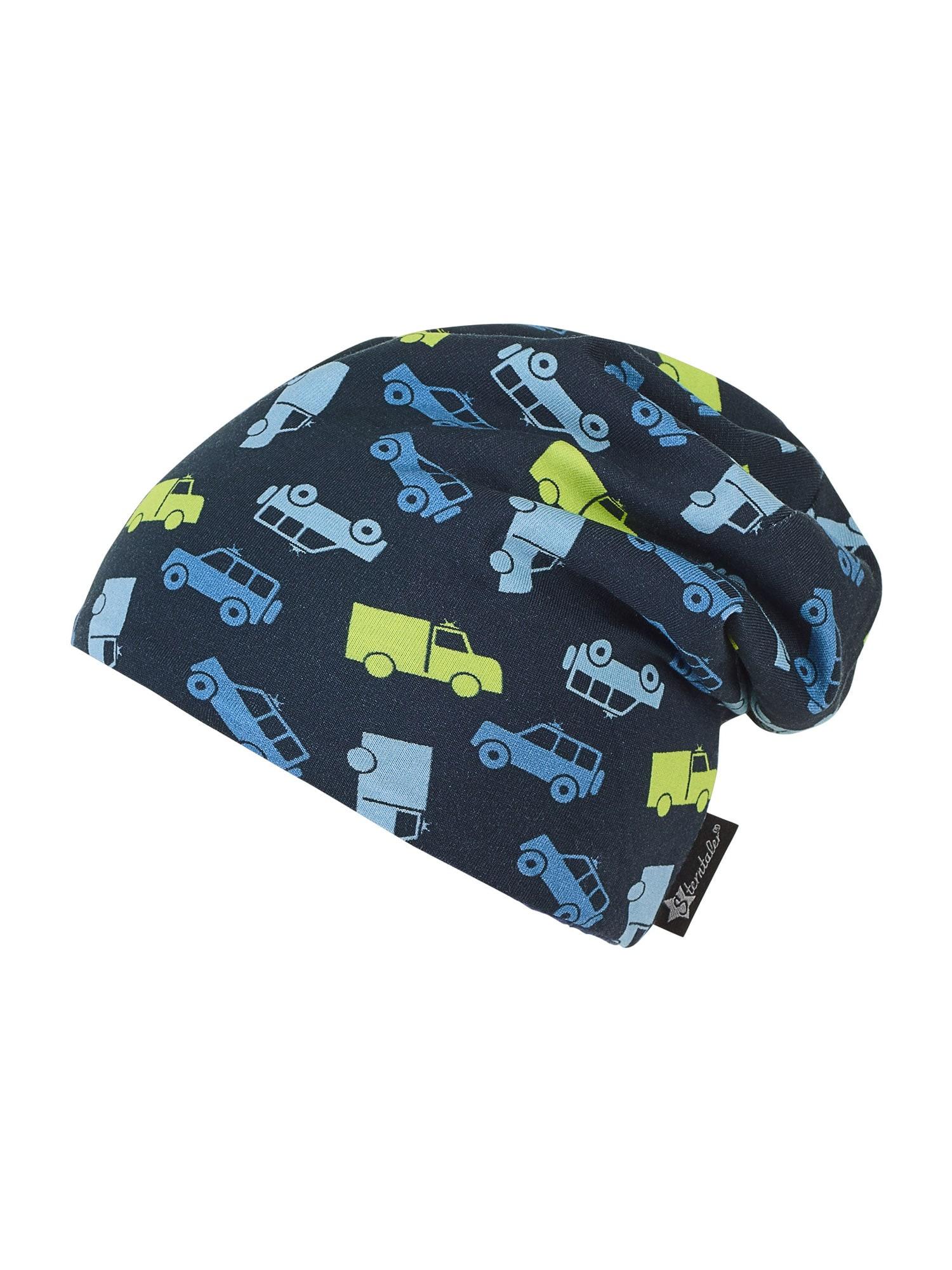 STERNTALER Megzta kepurė 'Slouch' tamsiai mėlyna jūros spalva