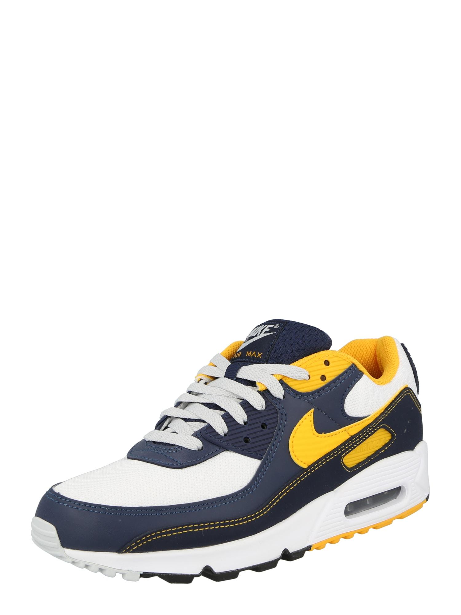 Nike Sportswear Nízke tenisky 'Air Max 90'  biela / tmavomodrá / zlatá žltá