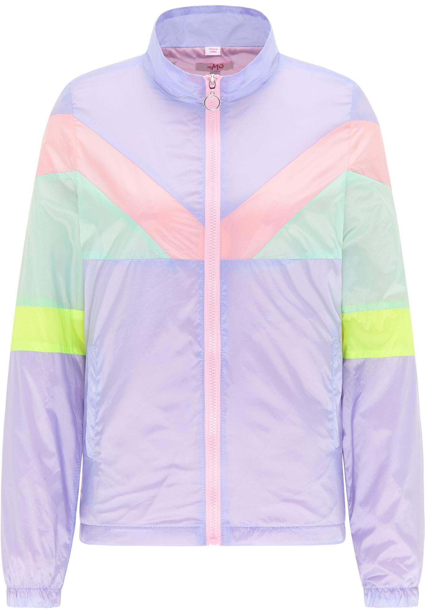 MYMO Demisezoninė striukė levandų spalva / pastelinė rožinė / mėtų spalva / neoninė geltona