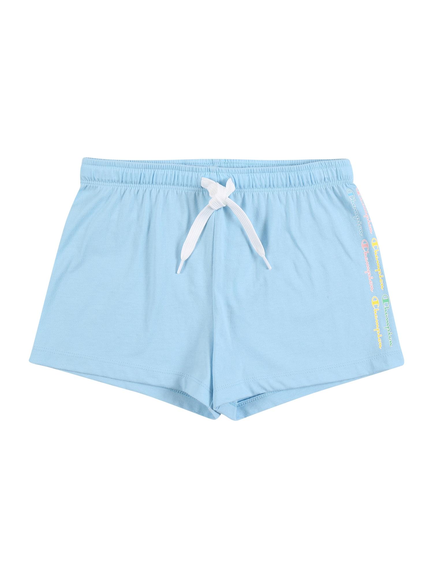 Champion Authentic Athletic Apparel Kelnės šviesiai mėlyna / geltona / šviesiai žalia / šviesiai rožinė