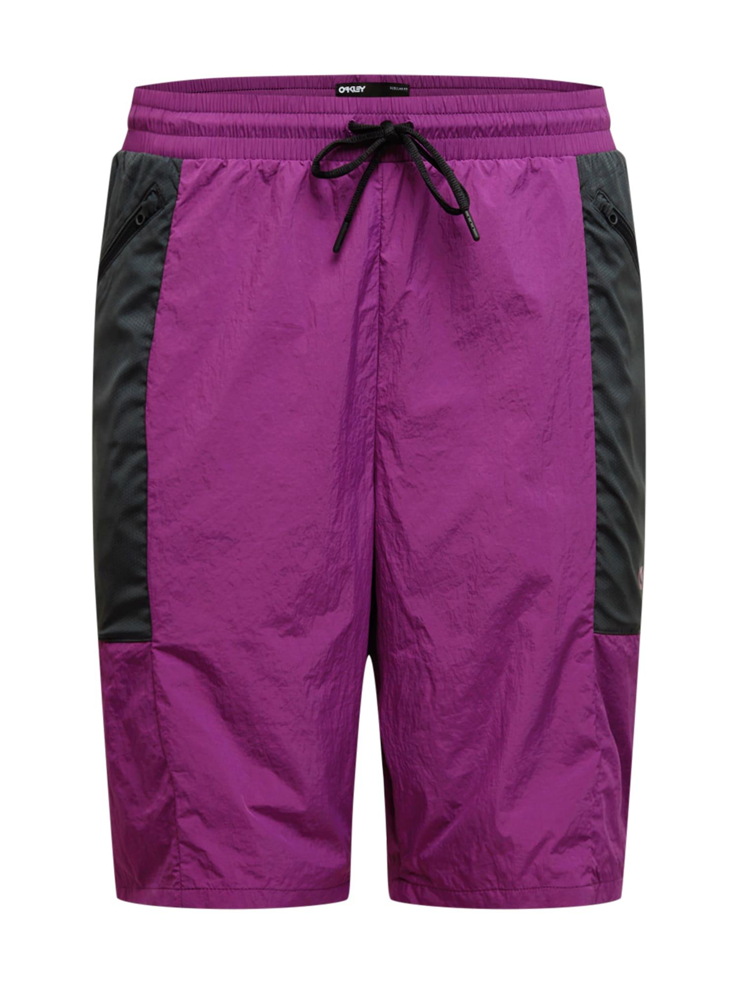 OAKLEY Kelnės tamsiai violetinė / juoda